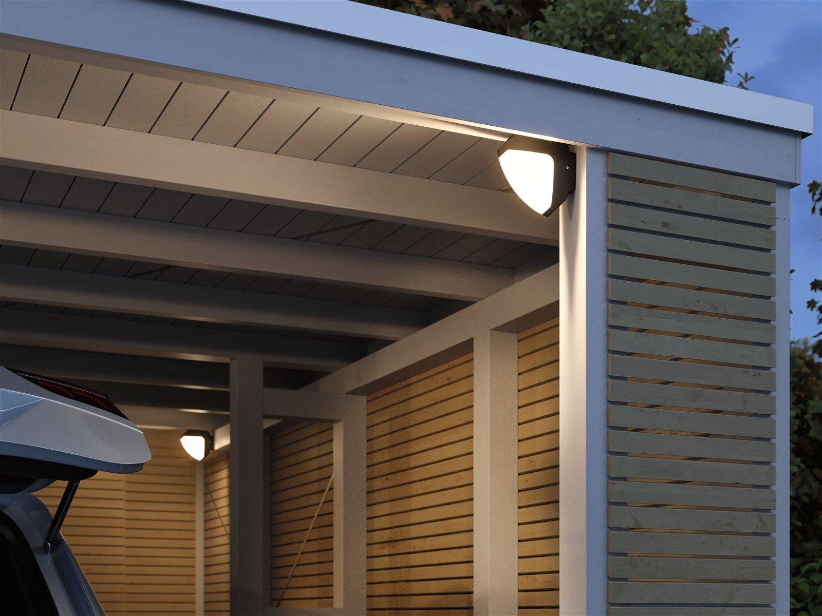 Park + Light LED Außenwandleuchte Ikosea IP44 50x203mm 3000K 5,6W 300lm 12V Anthrazit Kunststoff