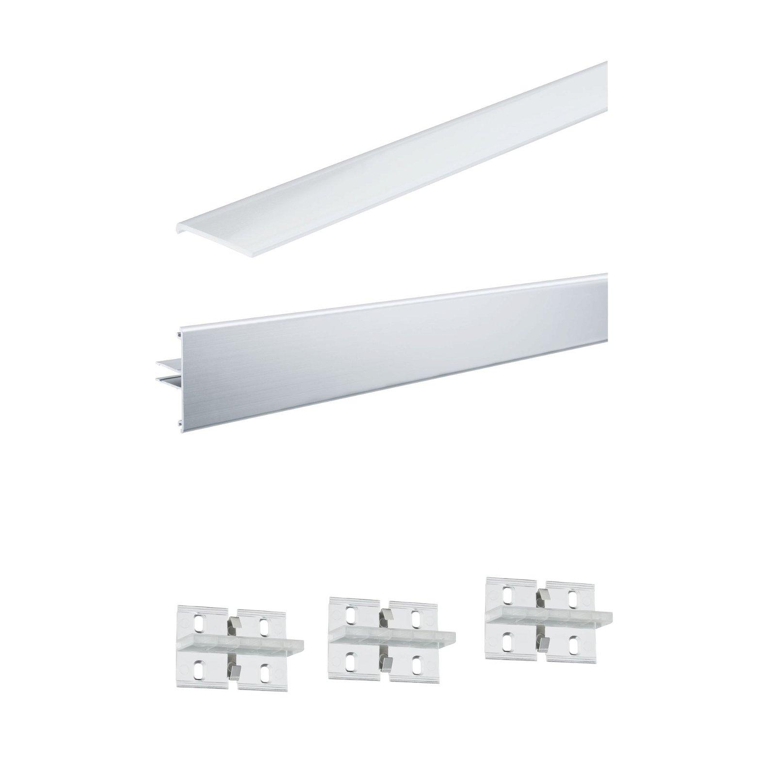 LED Strip profiel Duo 2m Alu geëloxeerd
