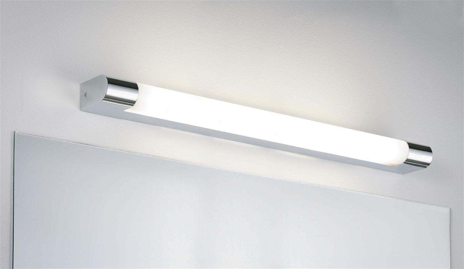 LED Spiegelleuchte Mizar IP44 3000K 1400lm 230V 10,5W Chrom/Weiß
