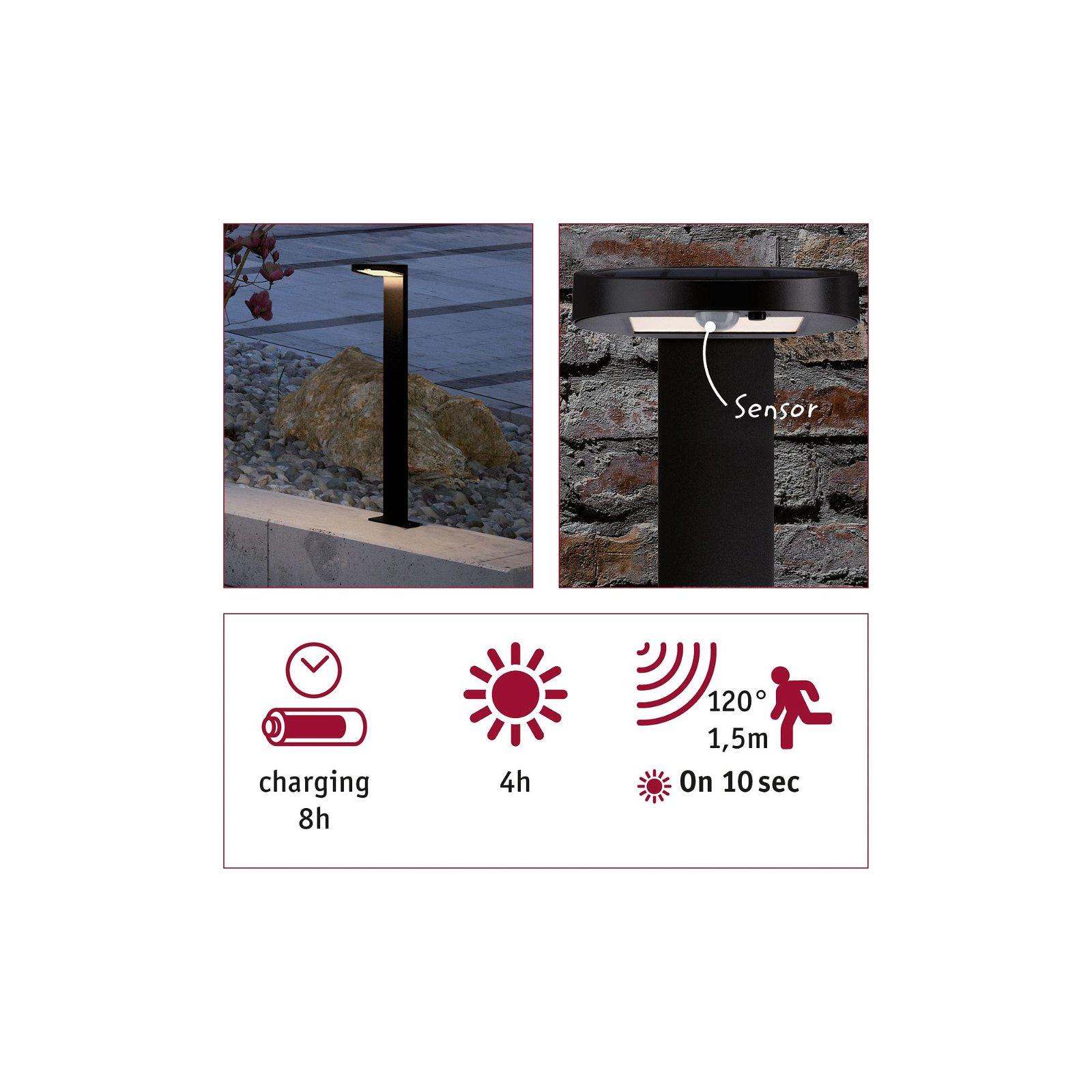 Solar LED Pollerleuchte Ryse Bewegungsmelder IP44 3000K 145lm Anthrazit