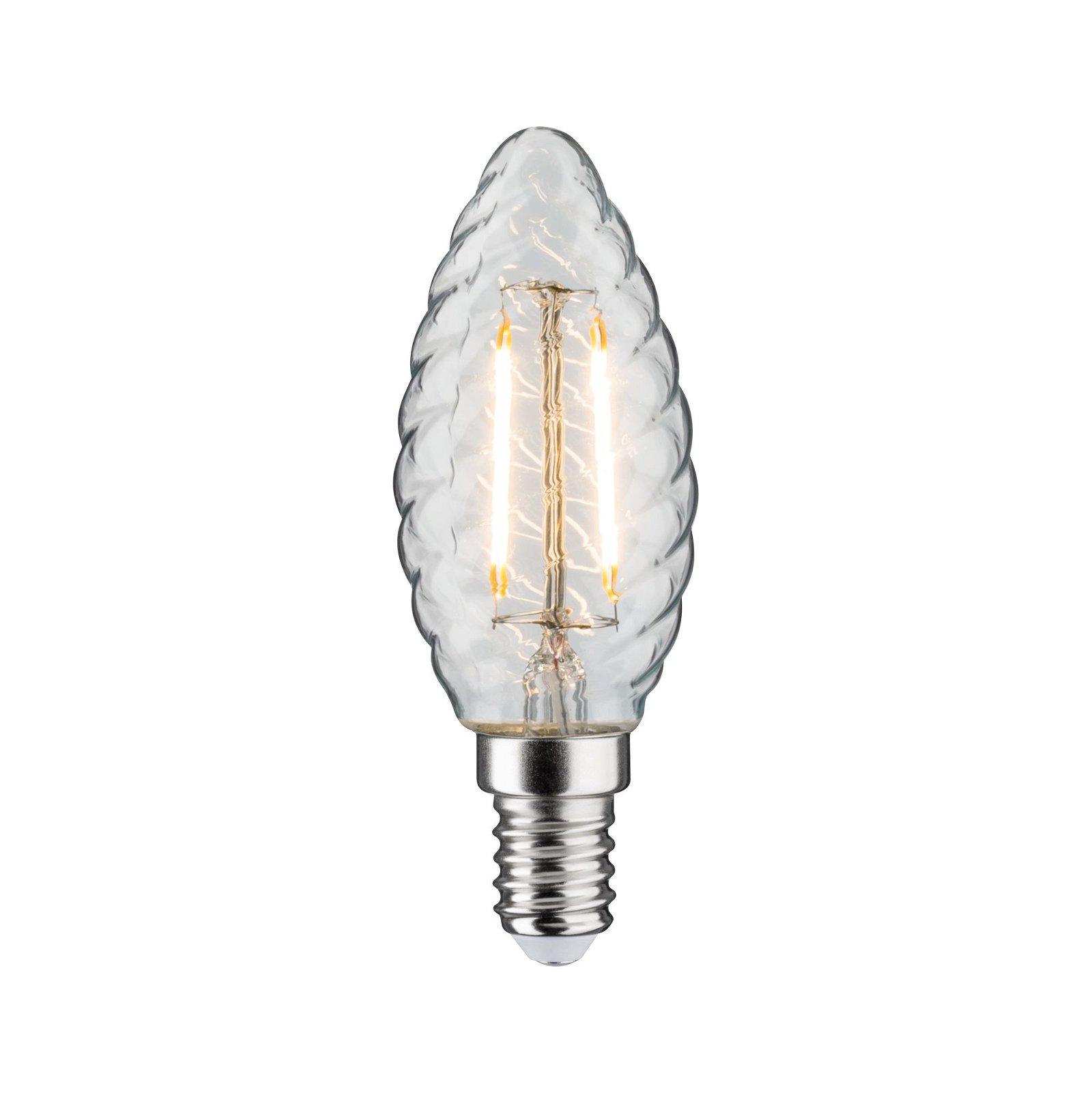 LED Kerze gedrehtes Glas E14 230V 280lm 2,6W 2700K Klar