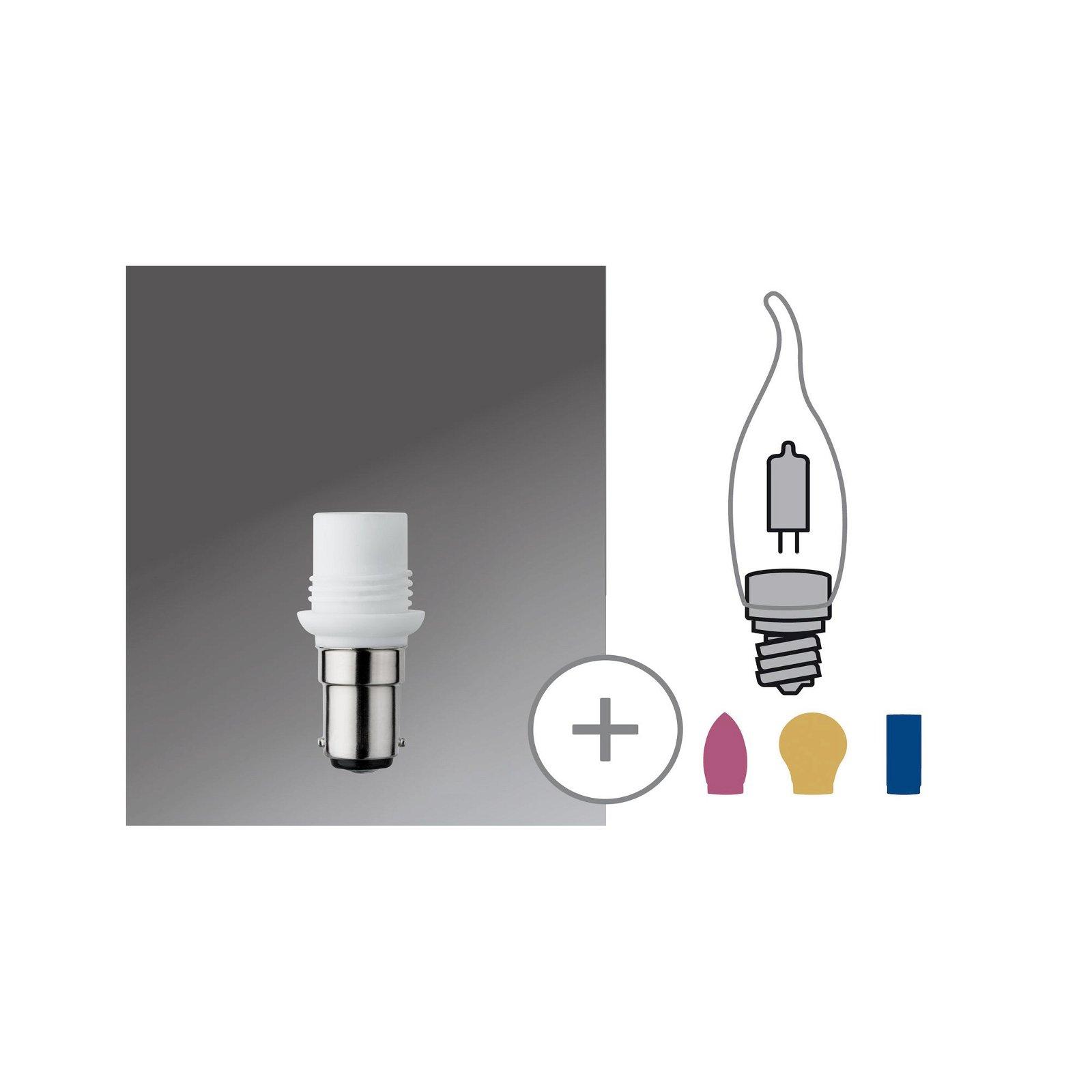 Leuchtmitteladapter G9 / B15d max. 75W Weiß