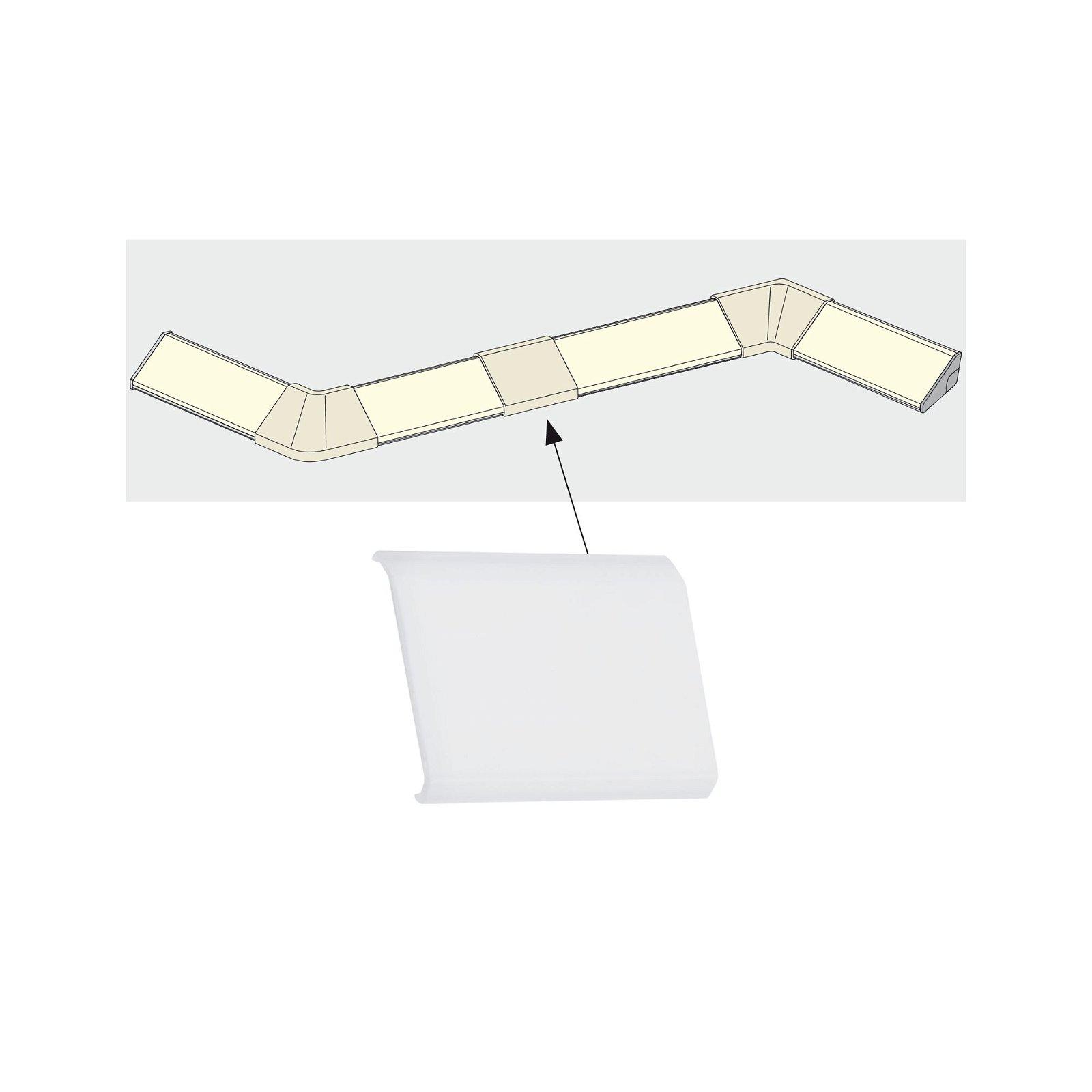 LED Strip profiel Delta Cover pak van 4 Satijn