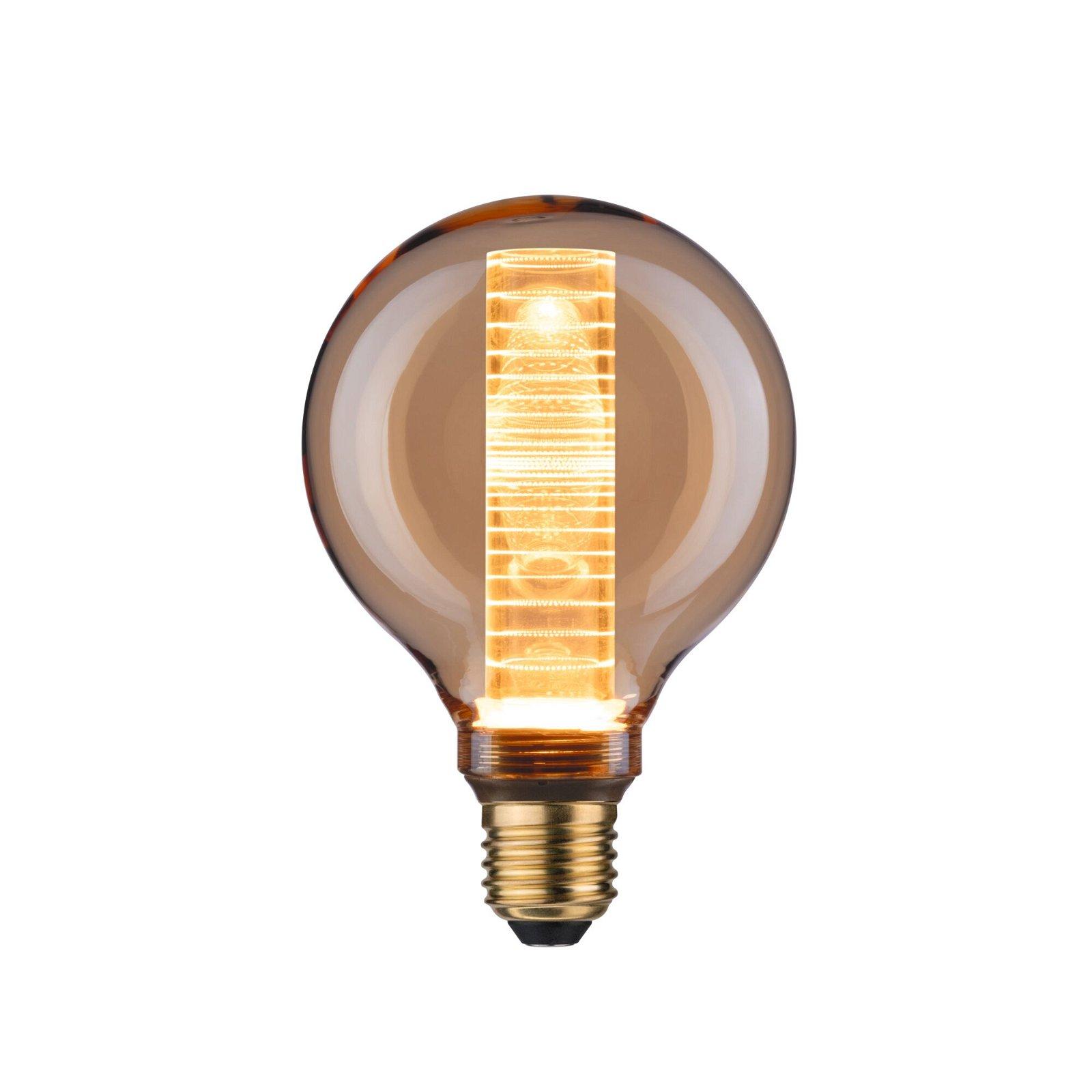 Inner Glow Edition LED Globe Innenkolben Ringmuster E27 230V 200lm 4W 1800K Gold