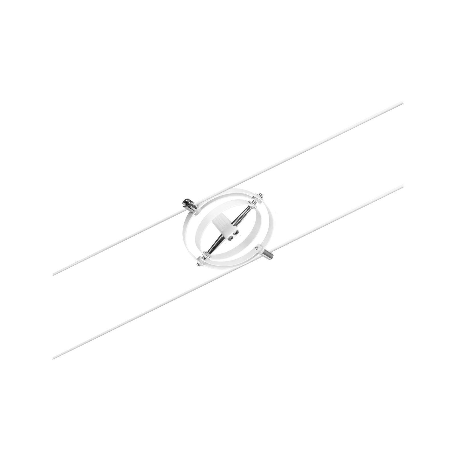 Seilsystem Cardan Einzelspot GU5,3 max. 10W 12V Weiß matt/Chrom