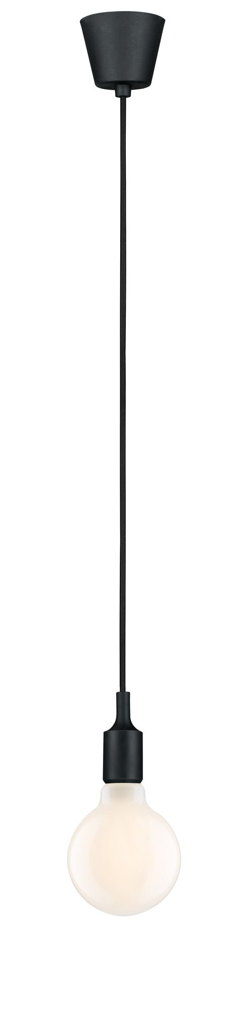 Neordic Pendant luminaire Ketil IP44 E27 max. 20W Black Silicone/Plastic