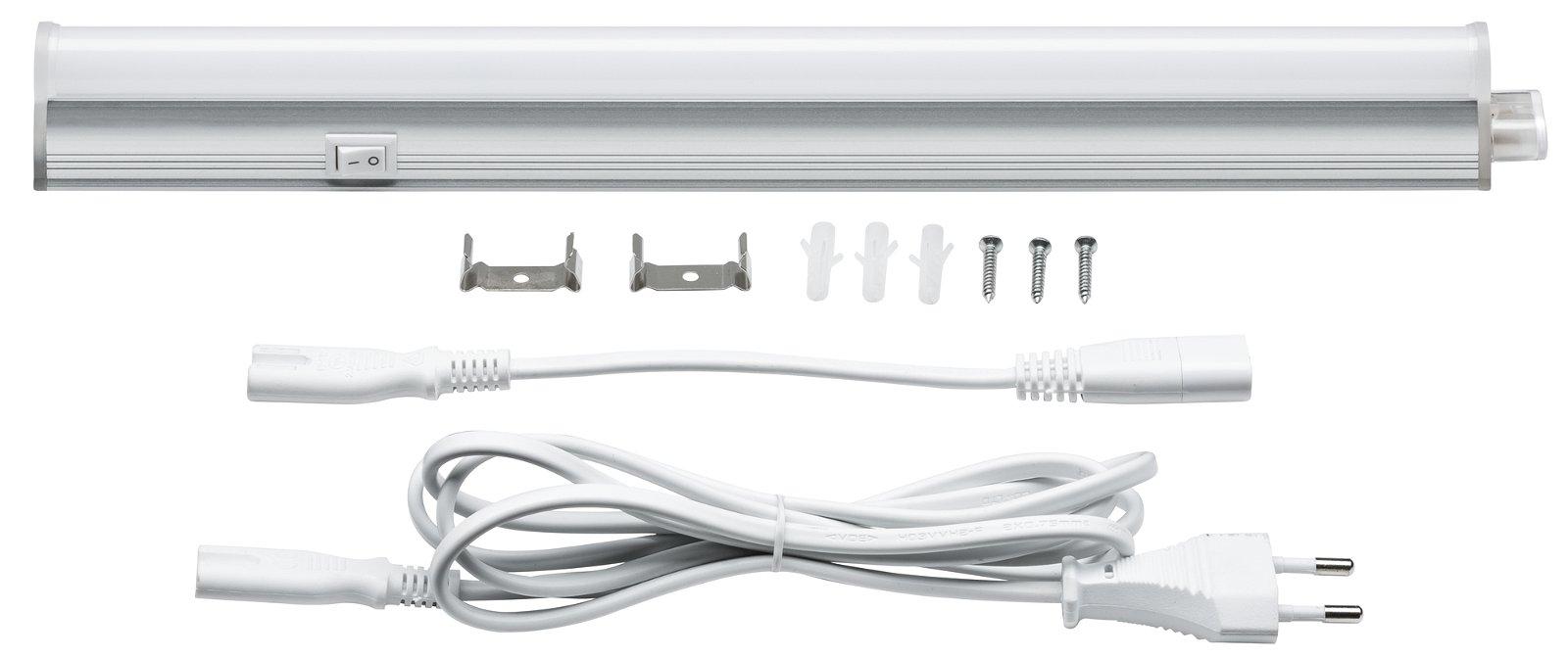 LED Unterschrankleuchte Bond inkl. Schalter 318x25mm 370lm 230V 4000K Satin
