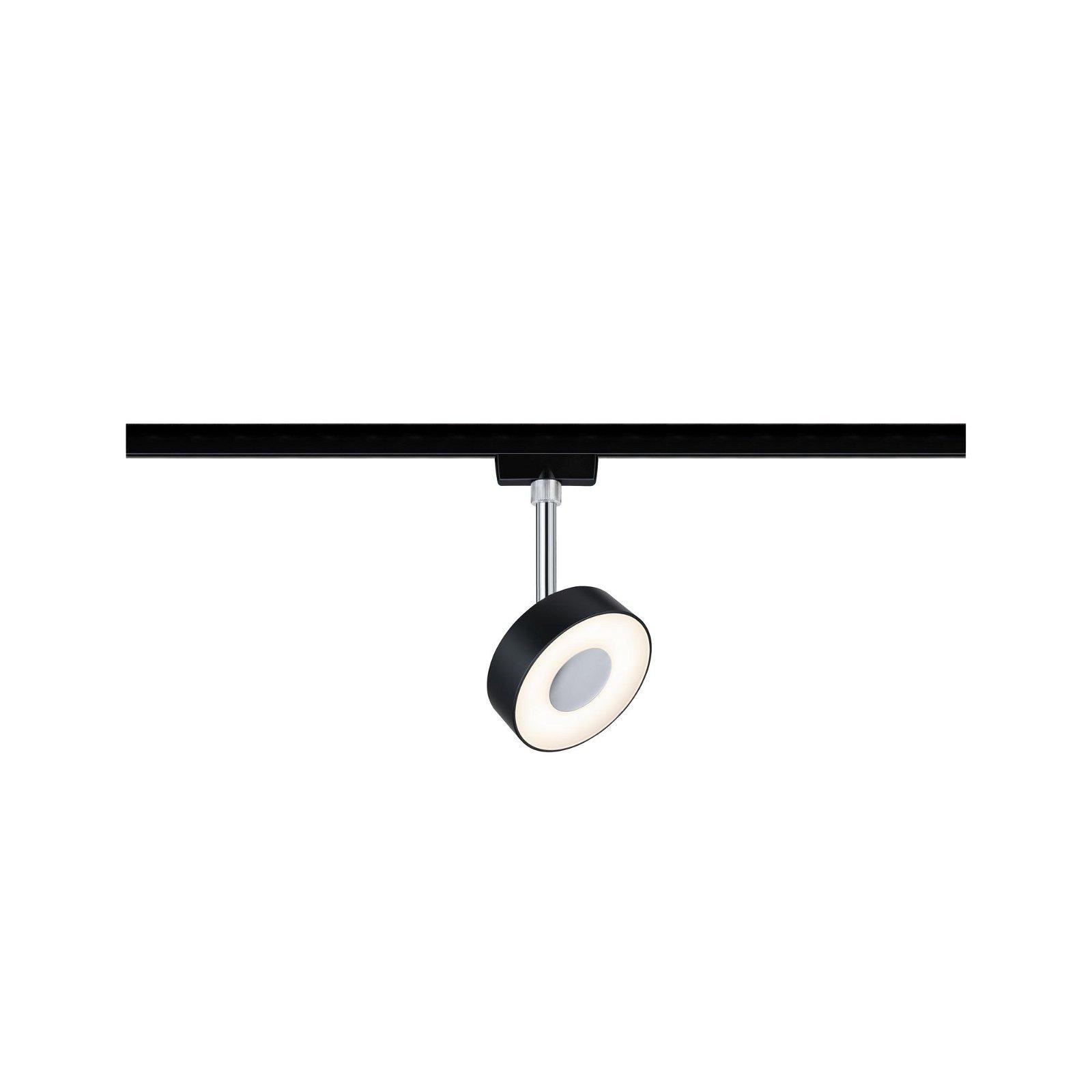 URail LED Schienenspot Circle 355lm 5W 2700K 230V Schwarz matt/Chrom