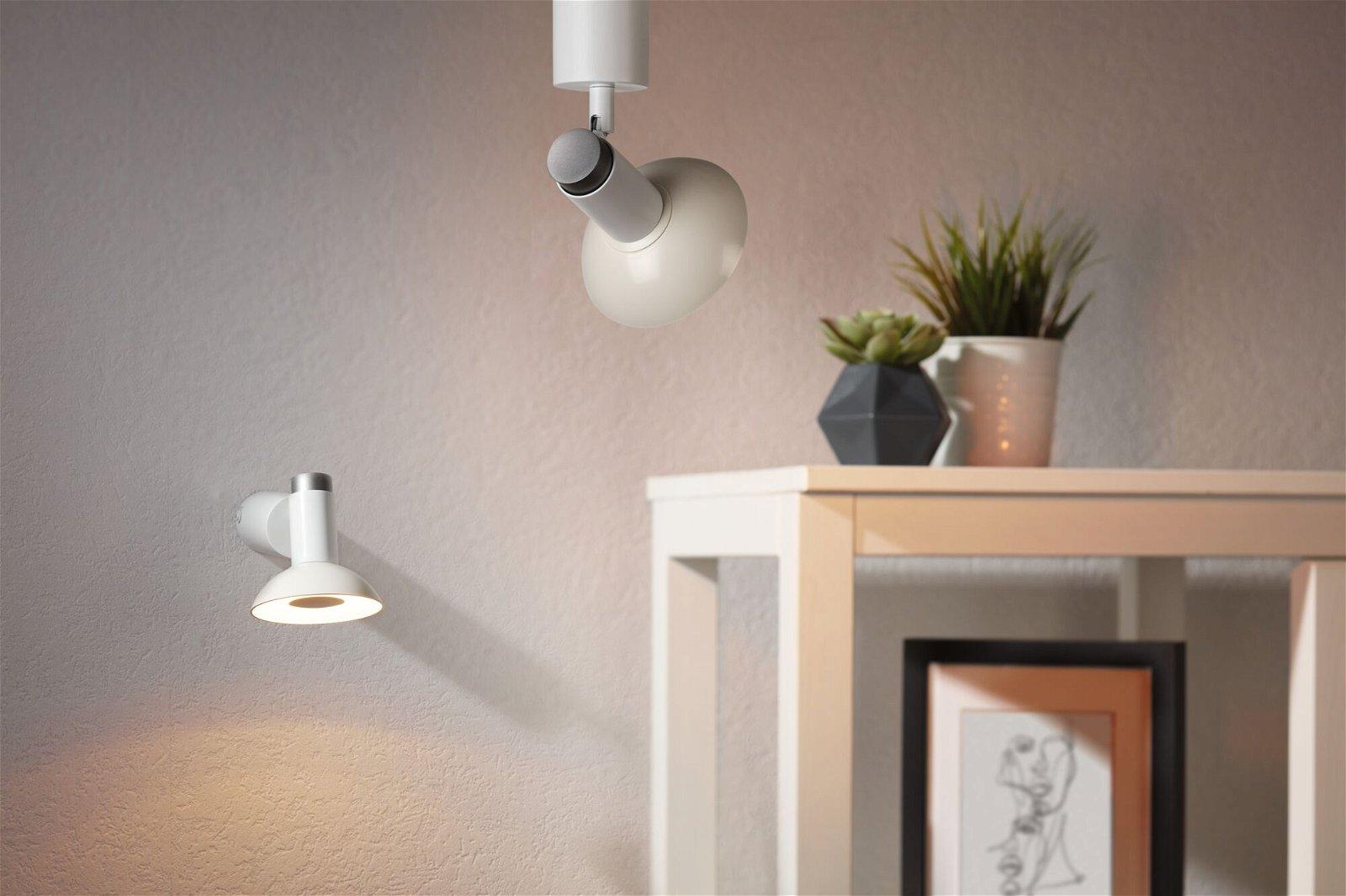 LED Reflektor GU10 230V 360lm 4,9W 3000K Silber/Weiß