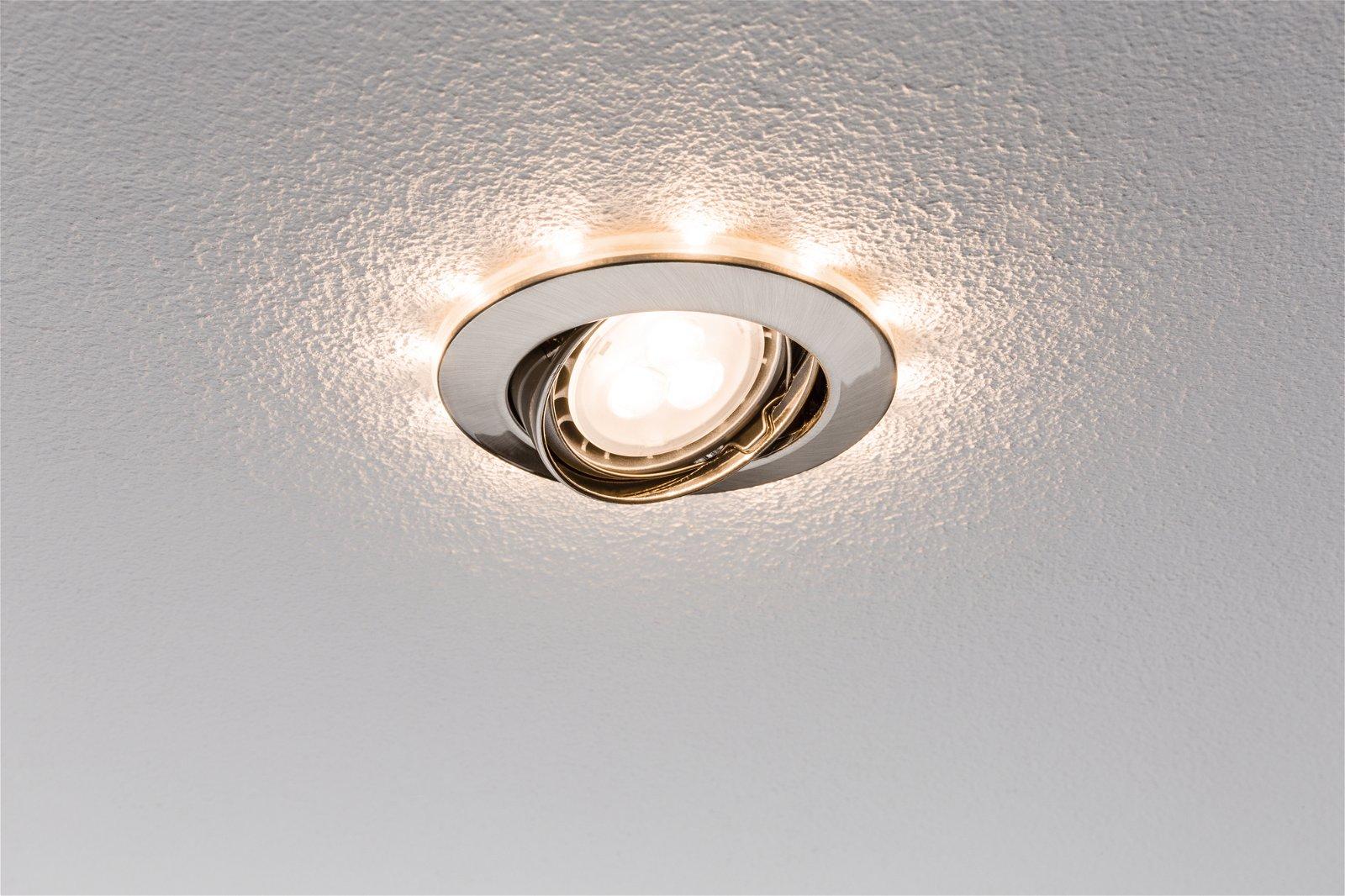 Einbauleuchten-Set LED mit Sternenhimmel LED Eisen gebürstet, 3er Set