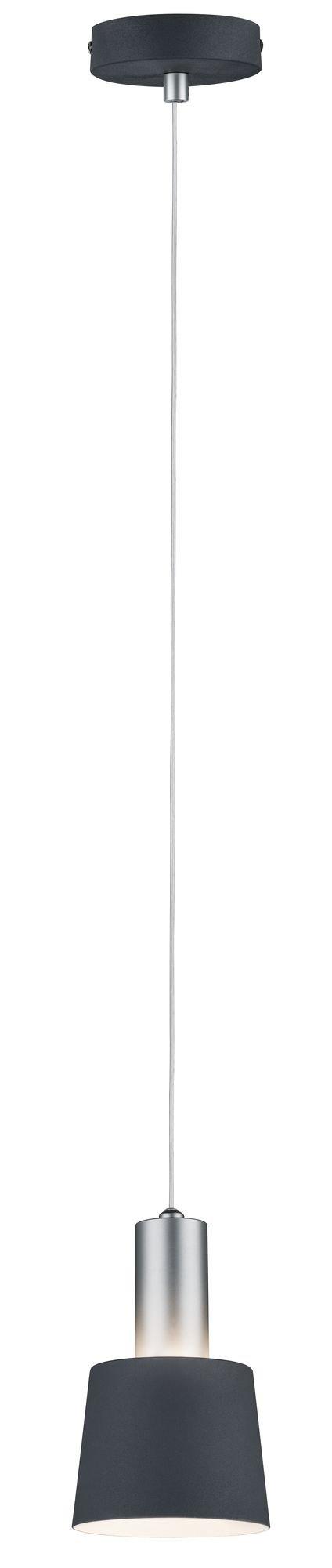 Neordic Pendelleuchte Haldar E14 max. 20W Dunkelgrau/Chrom matt Metall