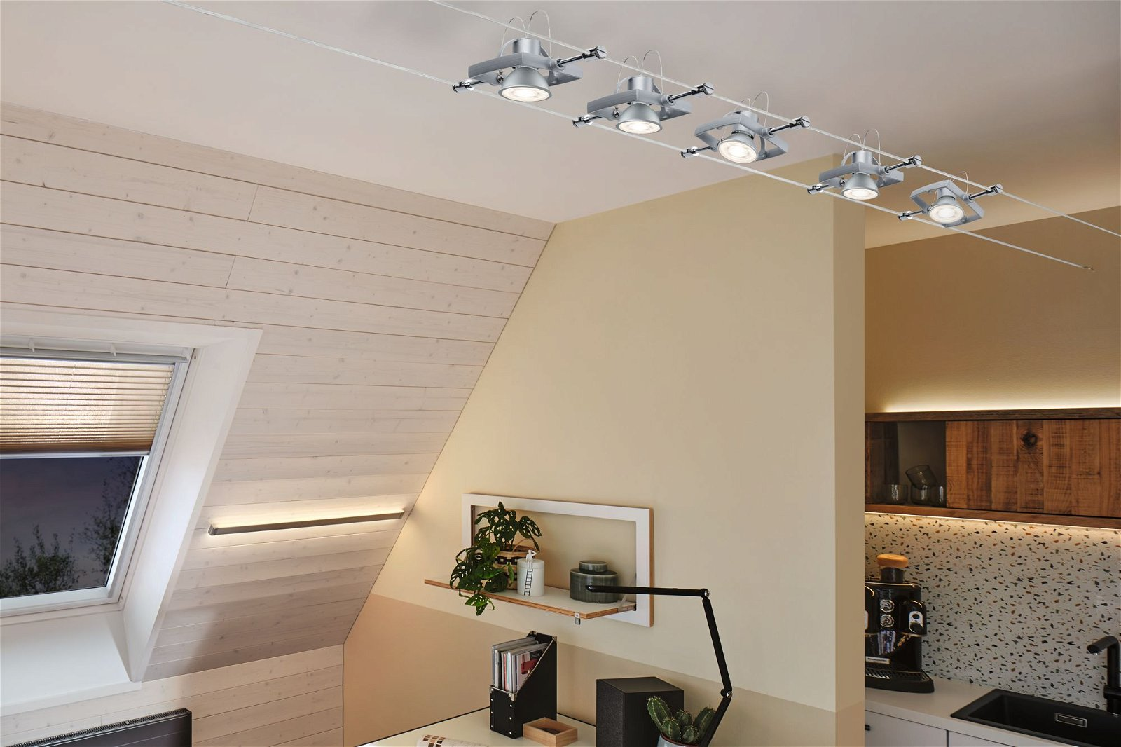 LED Reflektor GU5,3 12V 445lm 6,5W 2700K Chrom matt