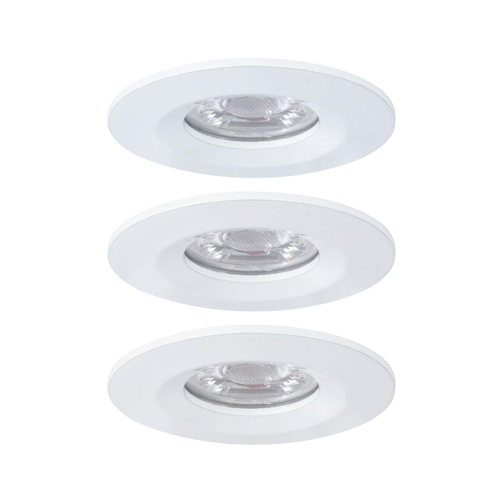 LED Einbauleuchte Nova Mini Basisset starr IP44 rund 65mm Coin 3x4W 3x310lm 230V 2700K Weiß matt