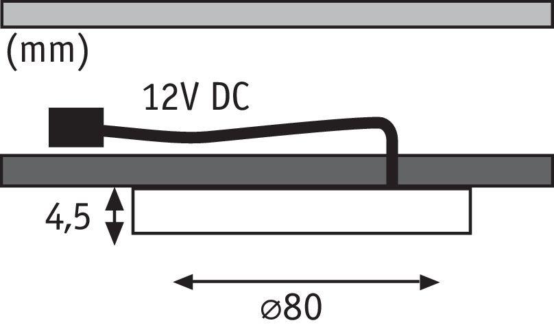 LED Unterschrankleuchte Leaf 3x4W 80mm 3x280lm 230/12V rund Alu gebürstet