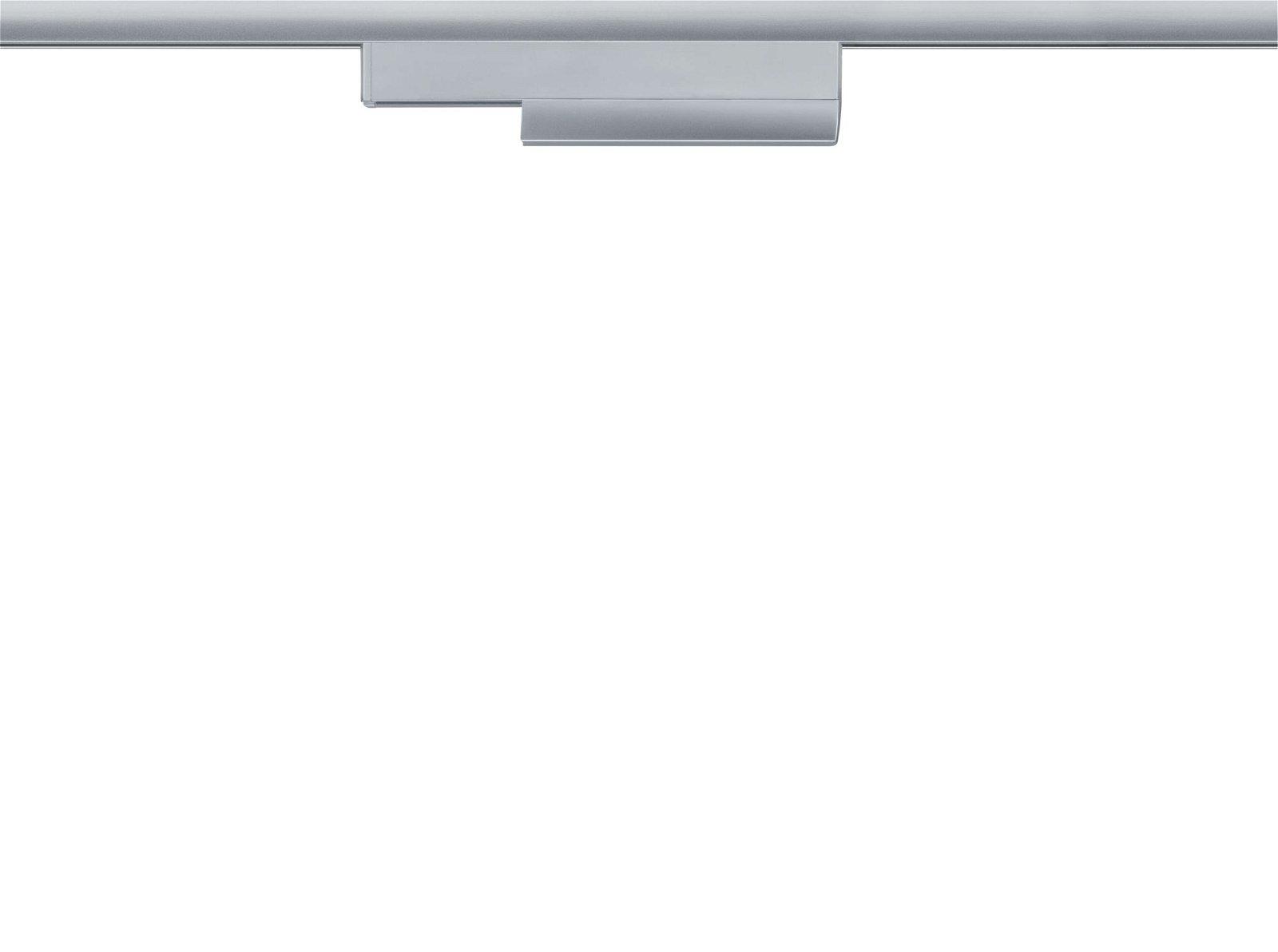 URail Railadapter On/Off/Dimm 166x20mm Chroom mat