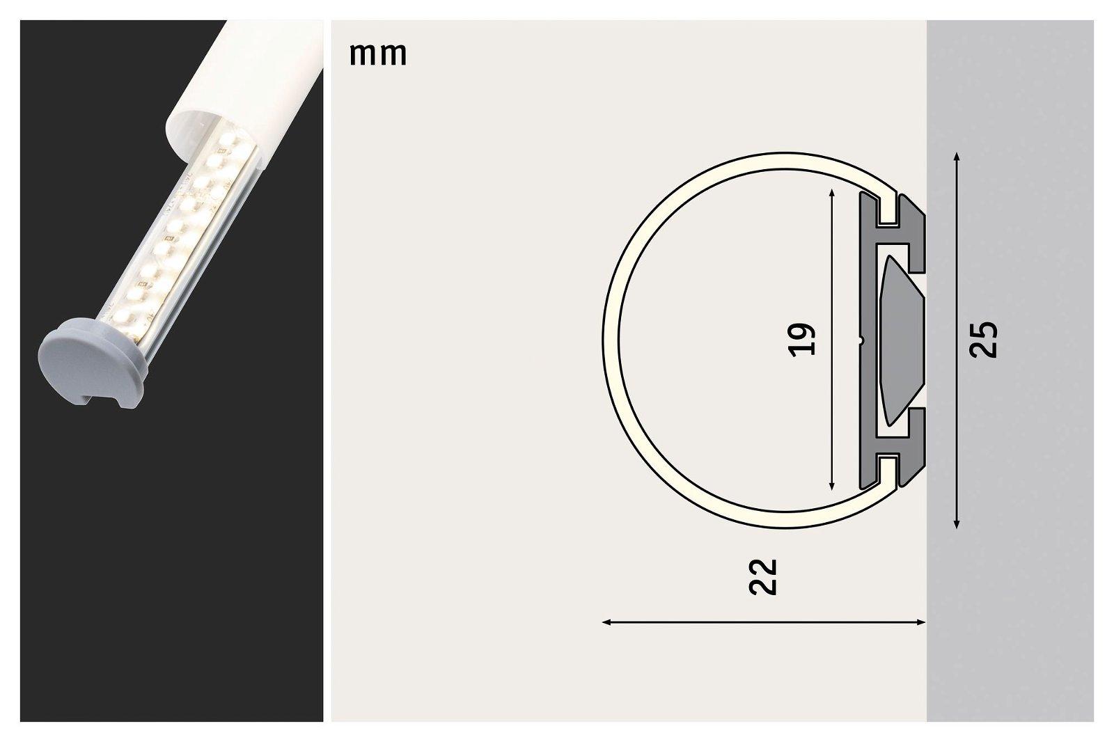Profilé de strip LED Tube 2m Alu anodisé