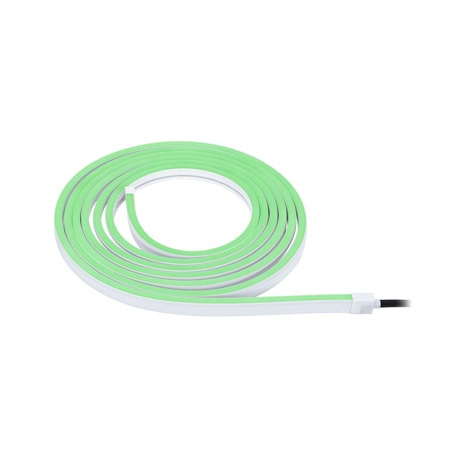 Plug & Shine LED Stripe Smart Home Zigbee Smooth IP67 RGBW 22W Weiß