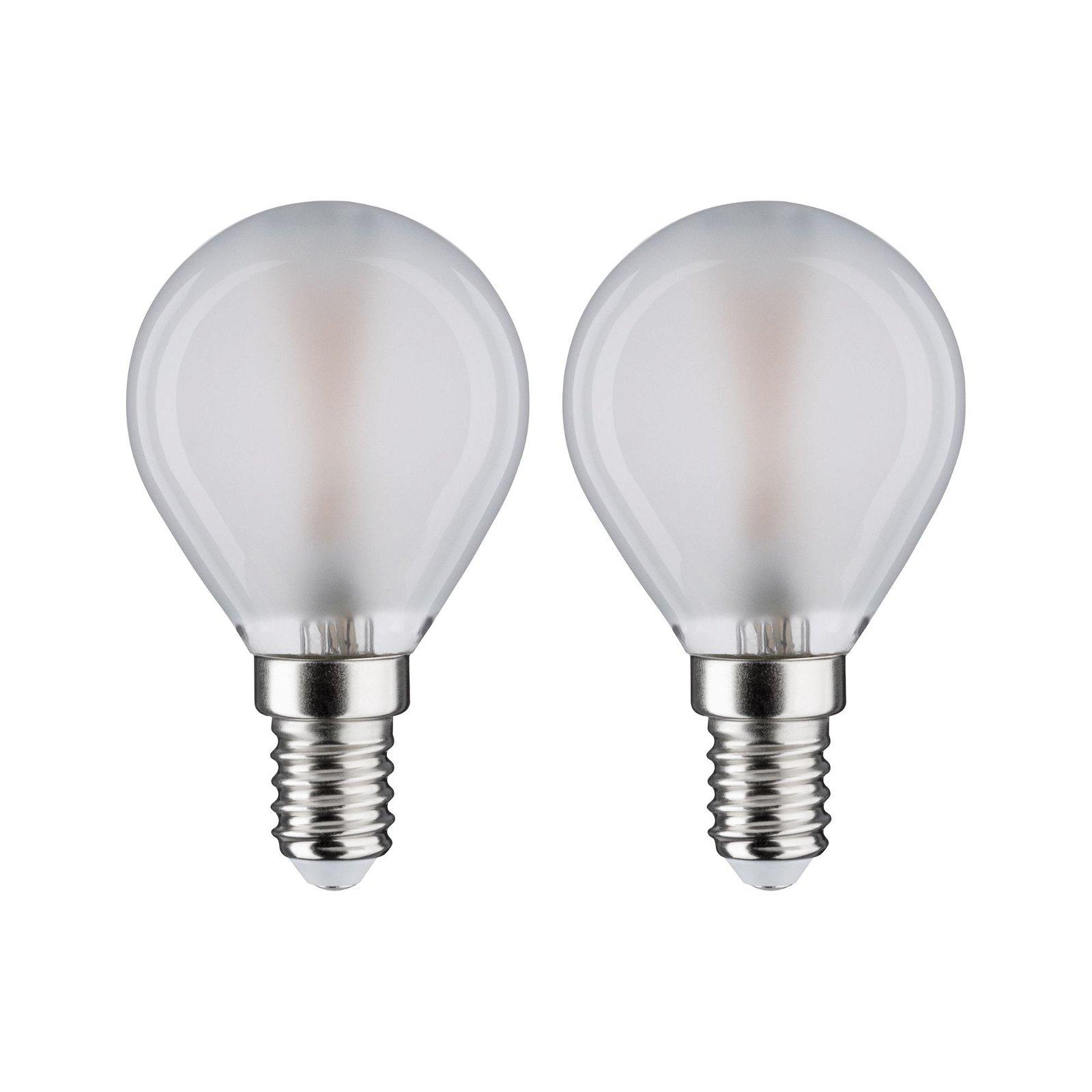 LED Tropfen Filament E14 230V 2x250lm 2x3W 2700K Matt