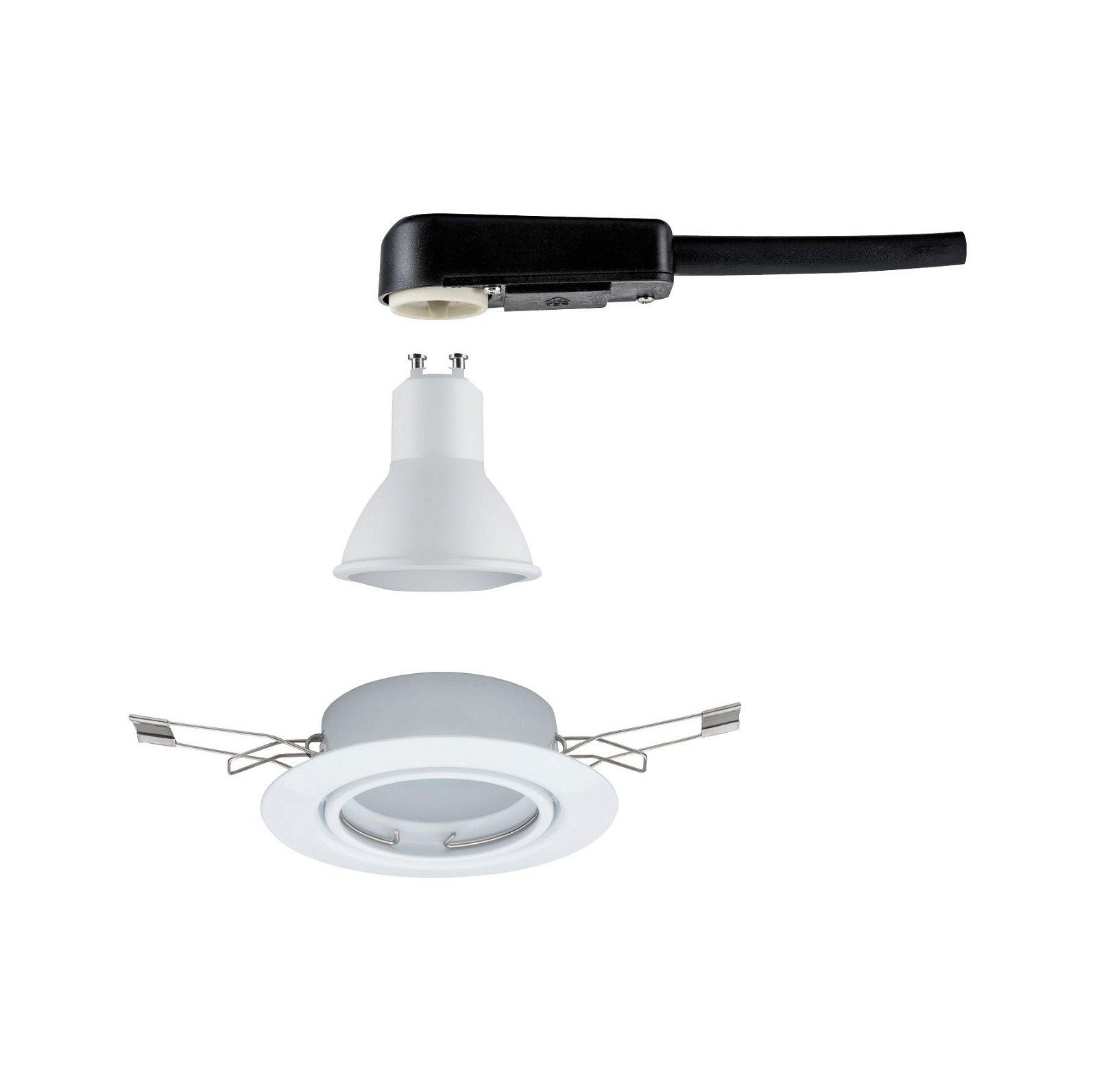LED Einbauleuchte Base Einzelleuchte schwenkbar rund 90mm 20° GU10 5W 350lm 230V 3000K Weiß