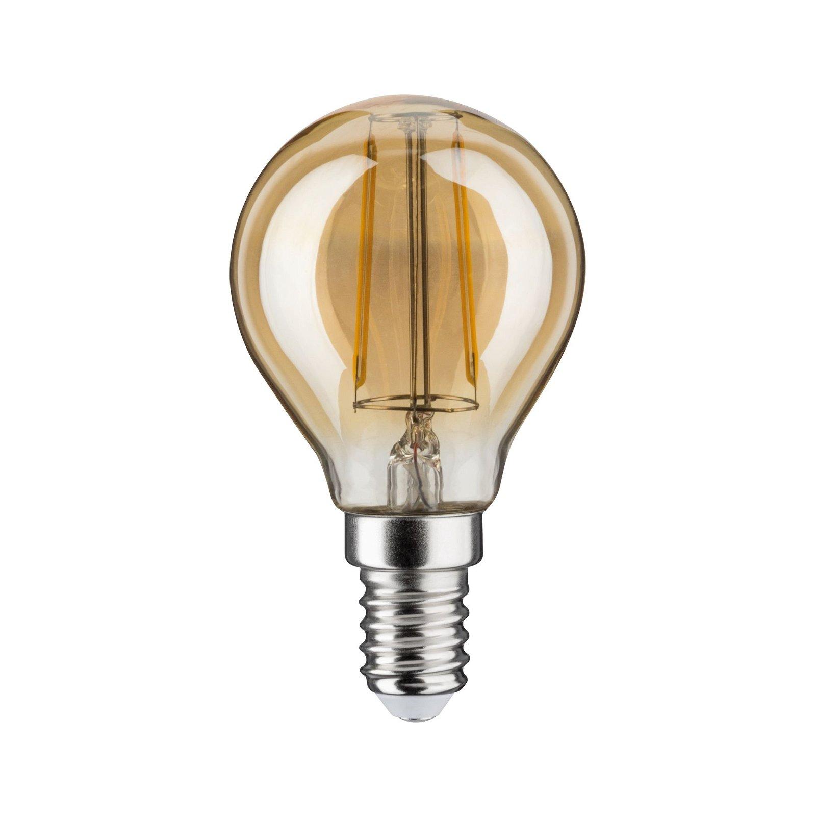 LED Tropfen E14 230V 260lm 2,6W 2500K Gold