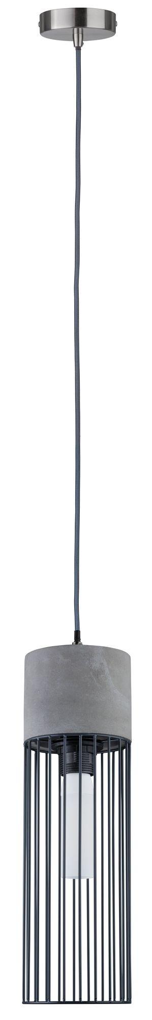 Neordic Pendelleuchte Henja E27 max. 20W Grau/Eisen gebürstet Beton/Metall