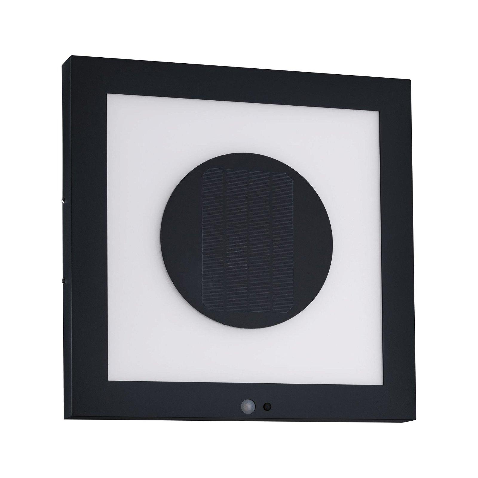 Solar LED Panel Taija Bewegungsmelder IP44 3000K 200lm Anthrazit