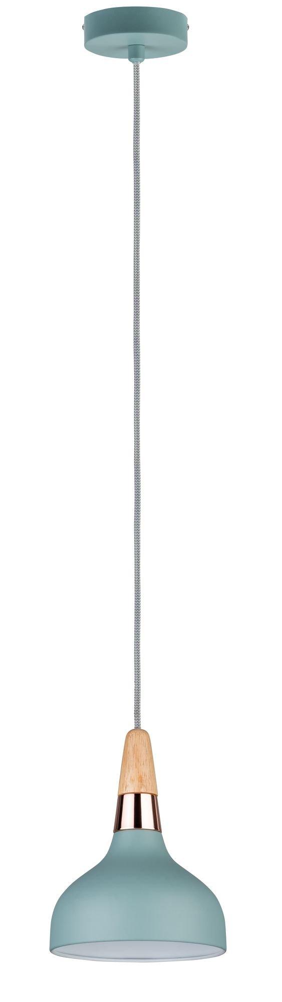 Neordic Pendelleuchte Juna E14 max. 20W Softgrün/Kupfer/Holz Metall/Holz