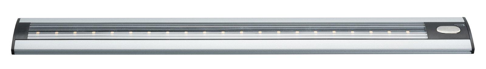 LED Schrankleuchte TriX inkl. Sensor 465x65mm 500lm 230/12V 3000K Alu matt/Schwarz