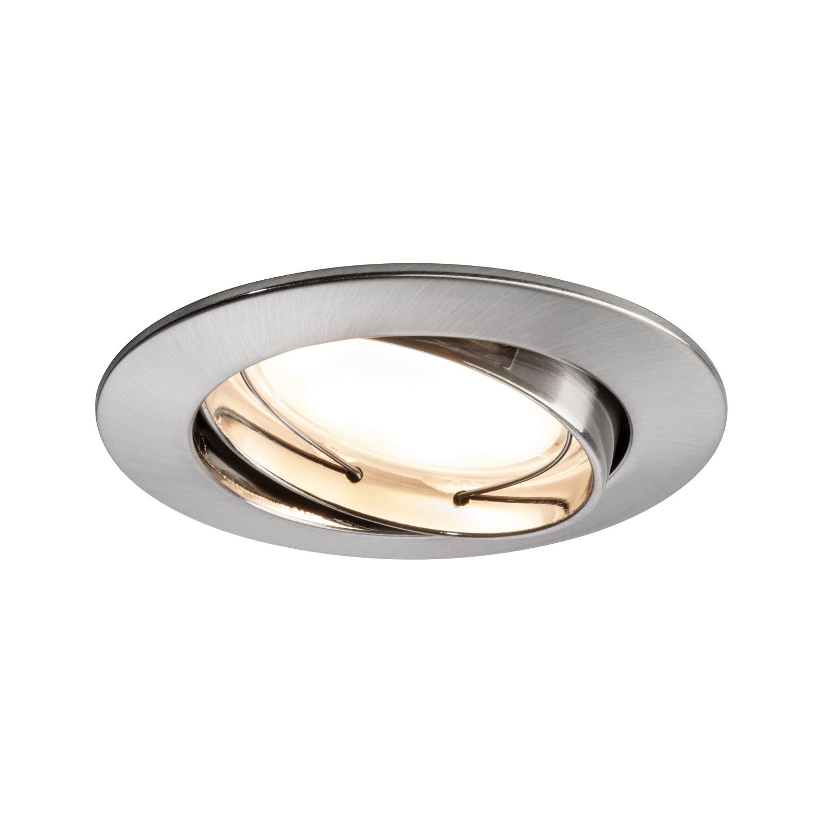 Einbauleuchte LED Coin satiniert rund 6,8W Eisen 3er-Set schwenkbar