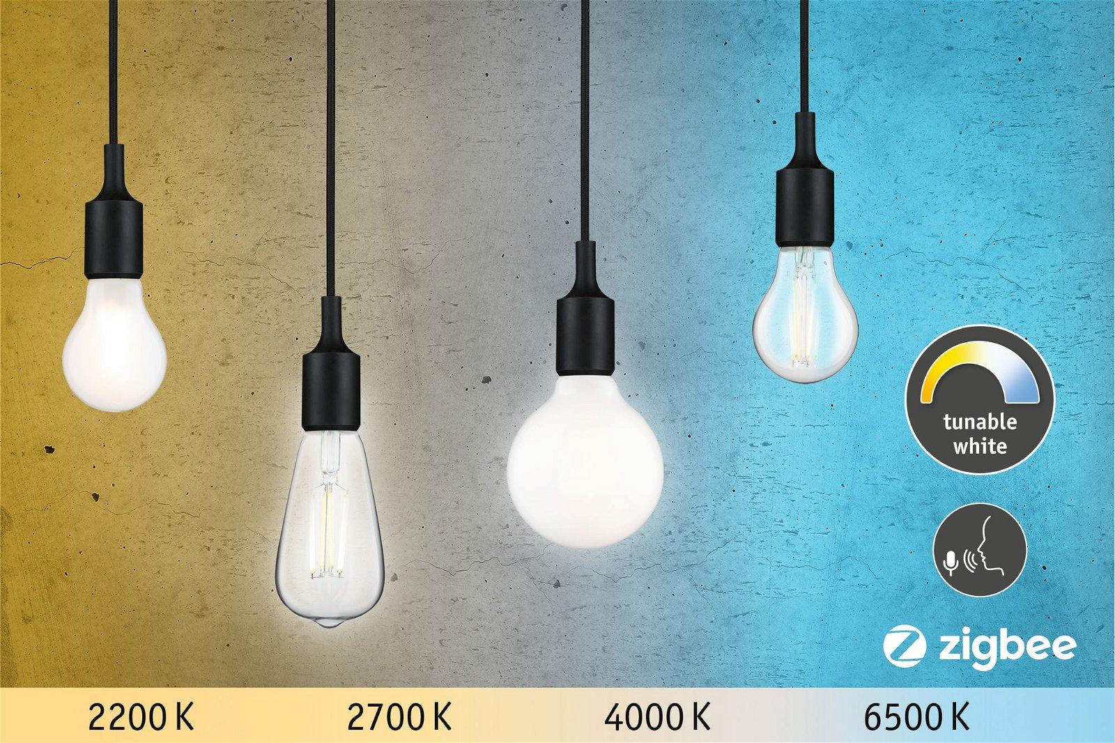 LED Birne Smart Home Zigbee Filament E27 230V 470lm 4,7W Tunable White Matt