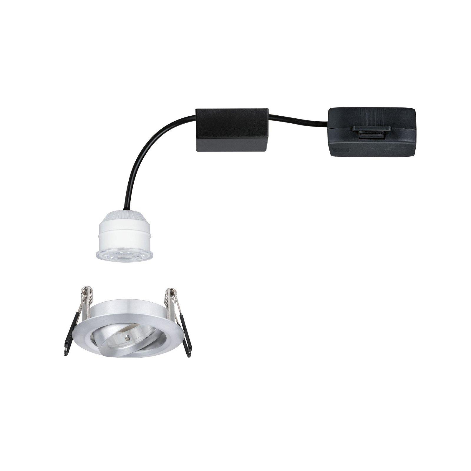 LED Einbauleuchte Easy Dim Nova Mini Plus Coin Einzelleuchte schwenkbar rund 66mm 15° Coin 4,2W 300lm 230V 2700K Alu