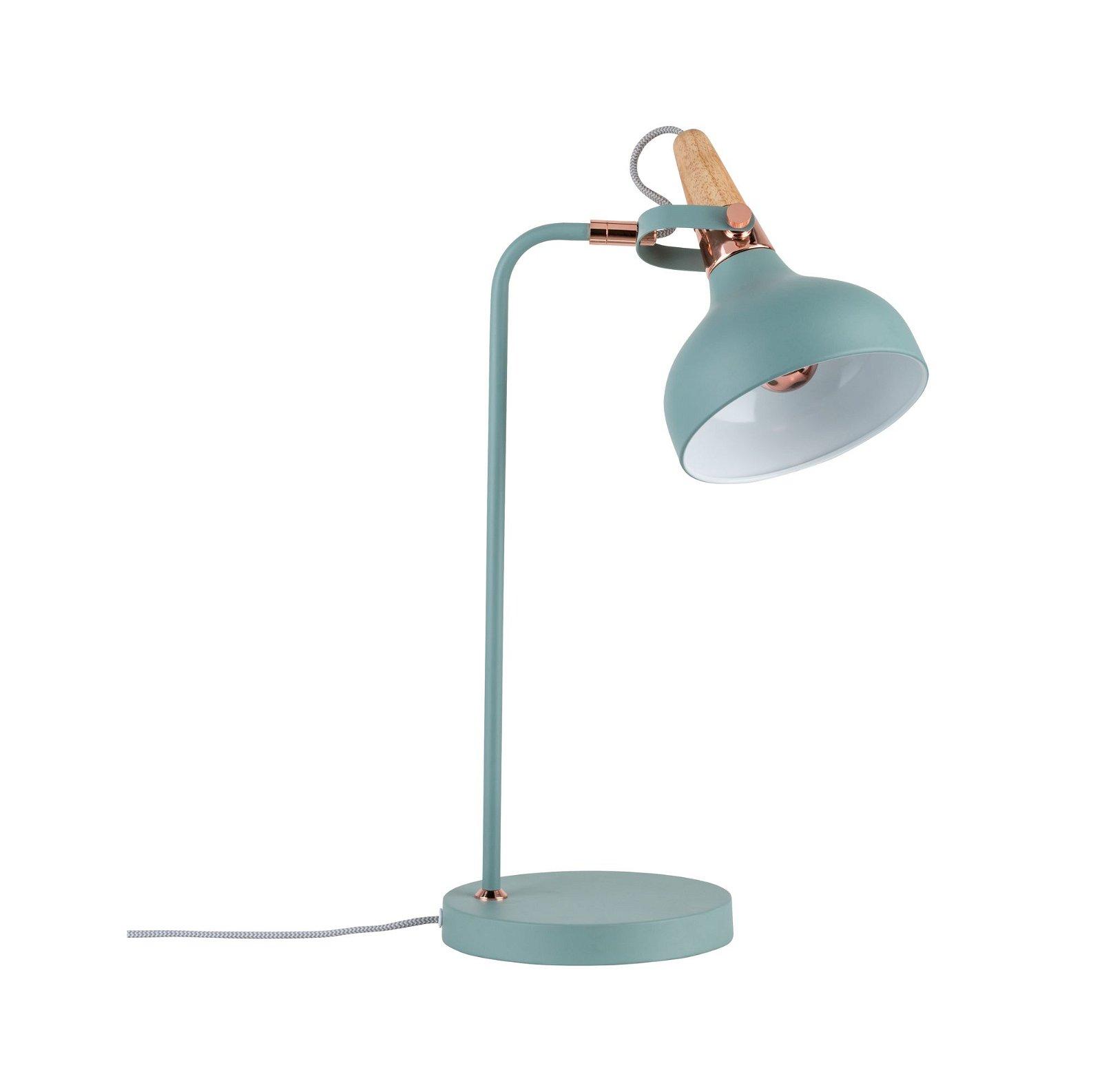 Neordic LED-tafellamp Juna E14 max. 20W Softgroen/Koper/Hout Metaal/Hout