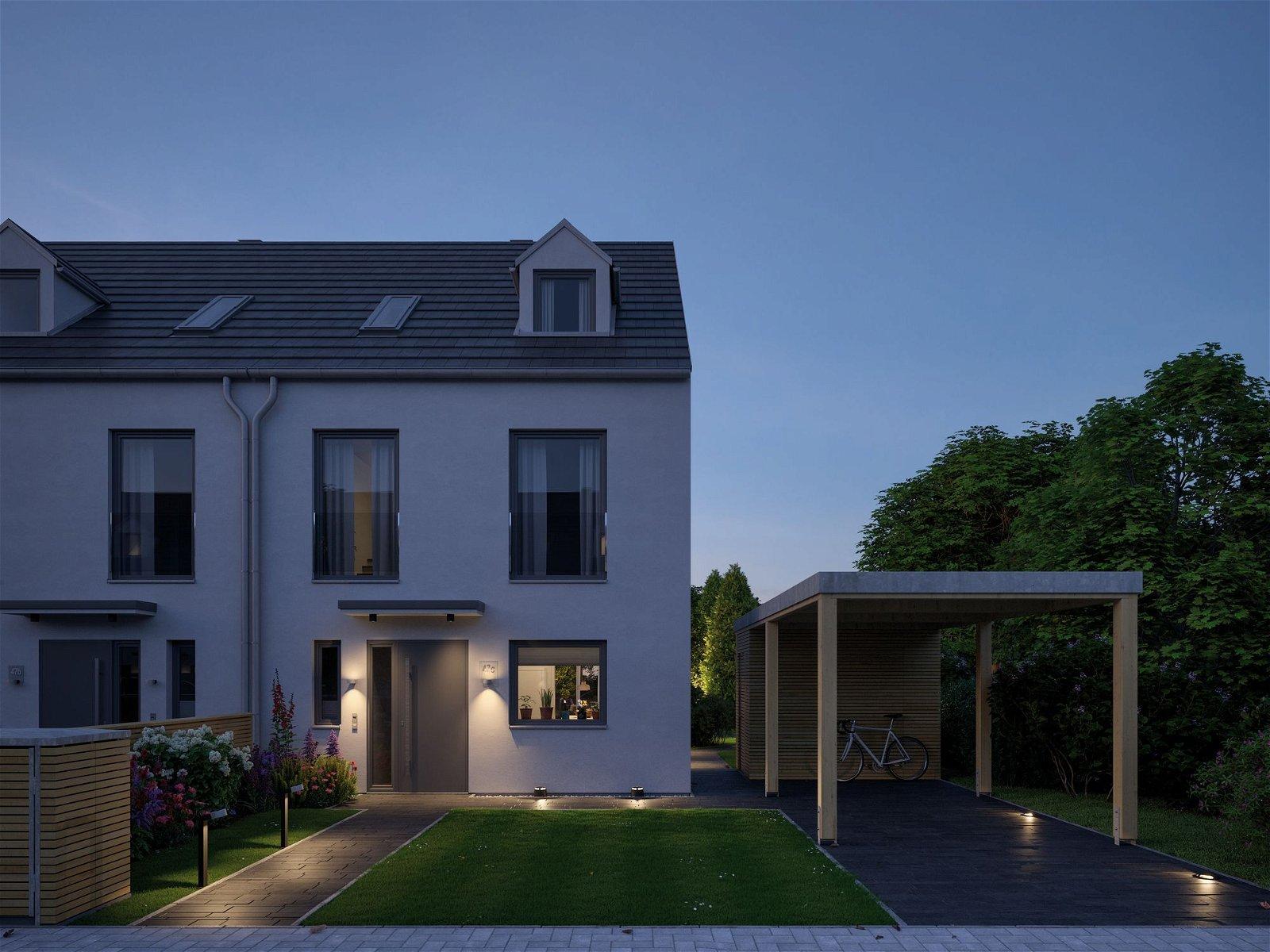 House Applique d'extérieur LED IP44 rond 95mm 3000K 4,4W 530lm 230V Anthracite Alu/Acryl