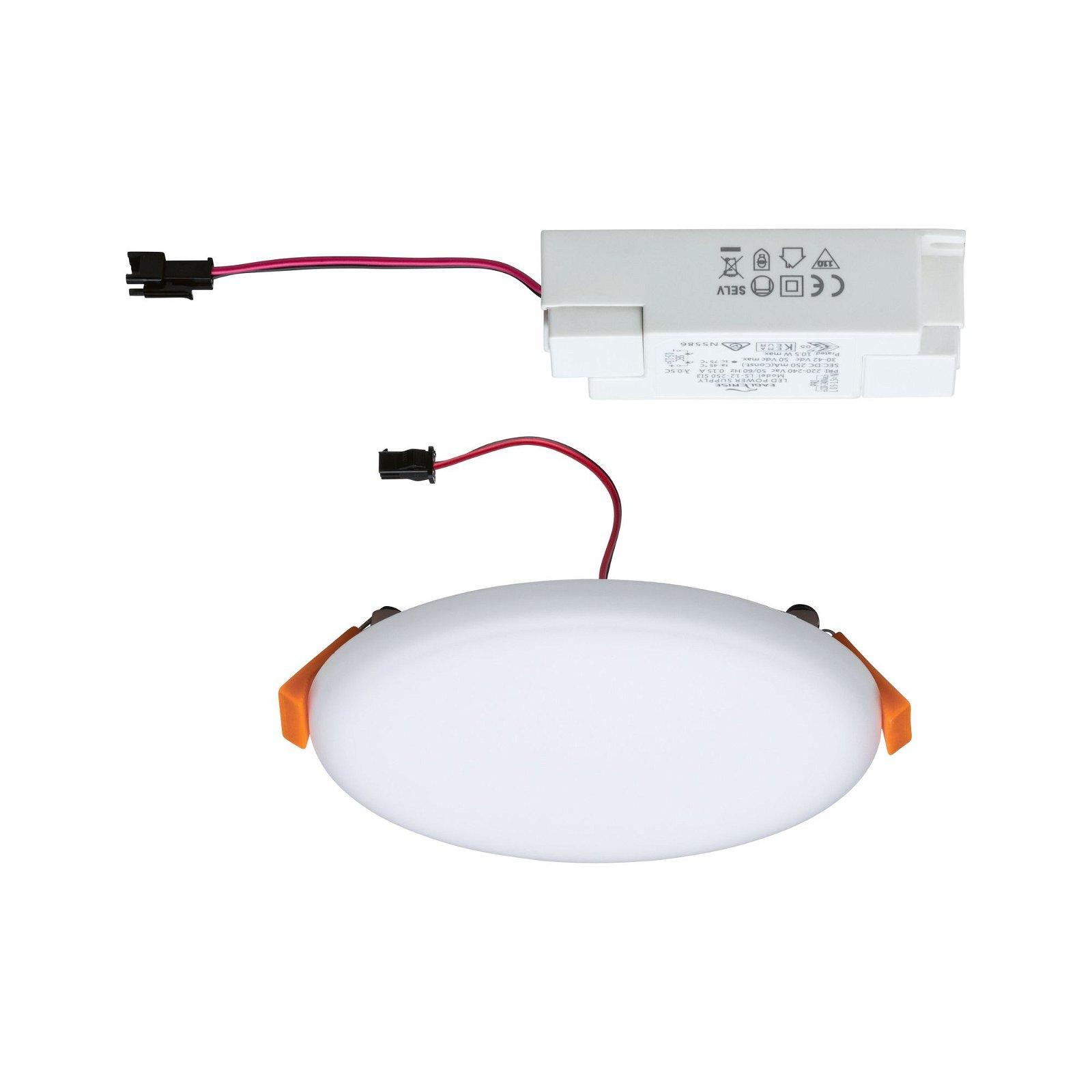 VariFit LED Einbaupanel Veluna IP44 IP44 rund 125mm 3000K Satin