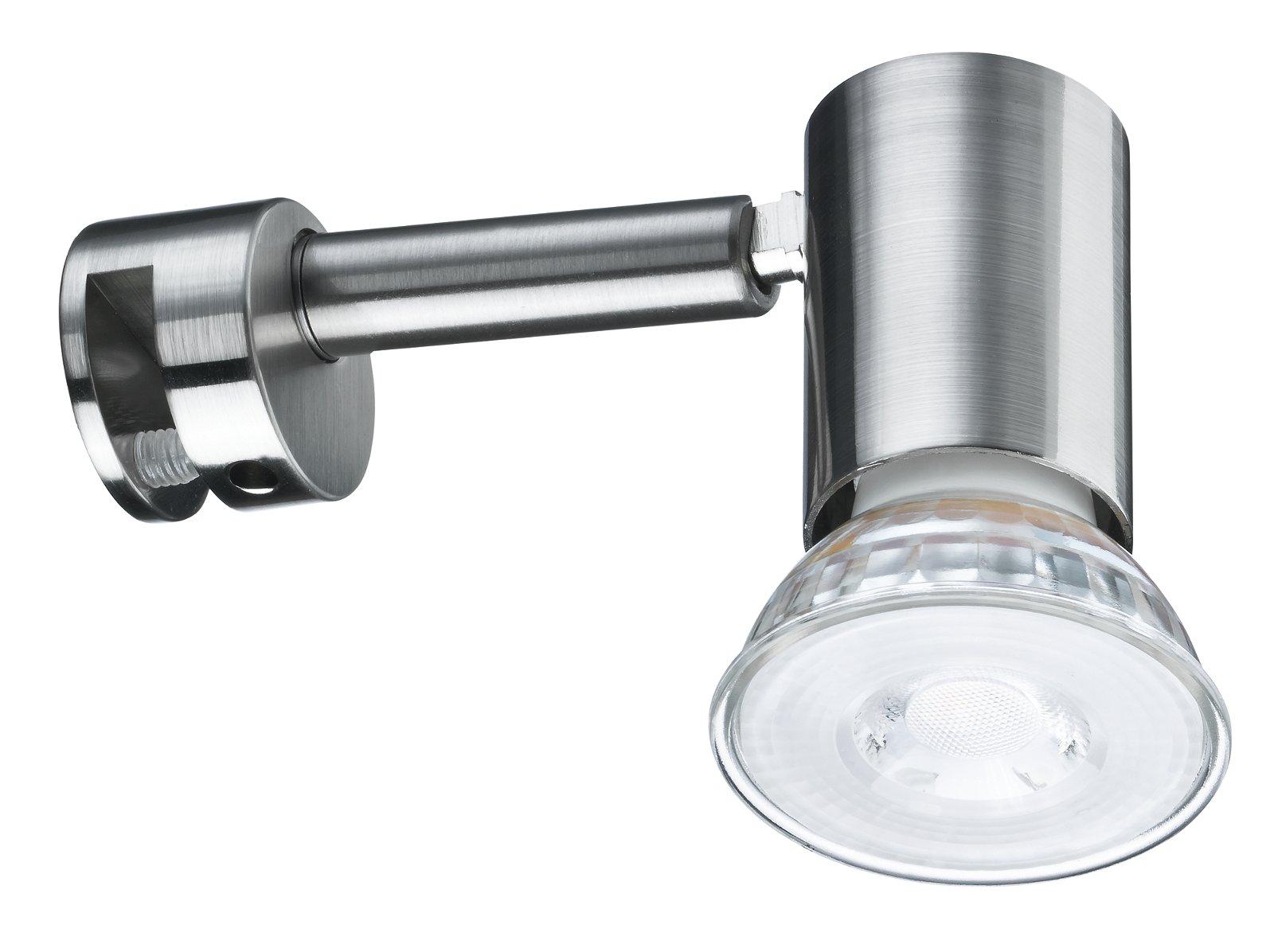 Spiegelleuchte Simplo GU10 230V 5,3W Eisen gebürstet