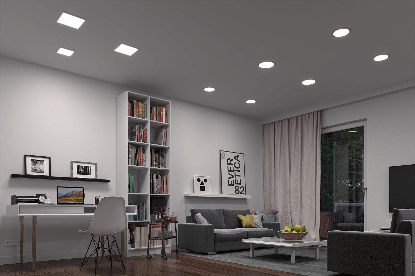 VariFit LED Einbaupanel Smart Home Zigbee Areo IP44 eckig 175x175mm 1800lm Tunable White Weiß