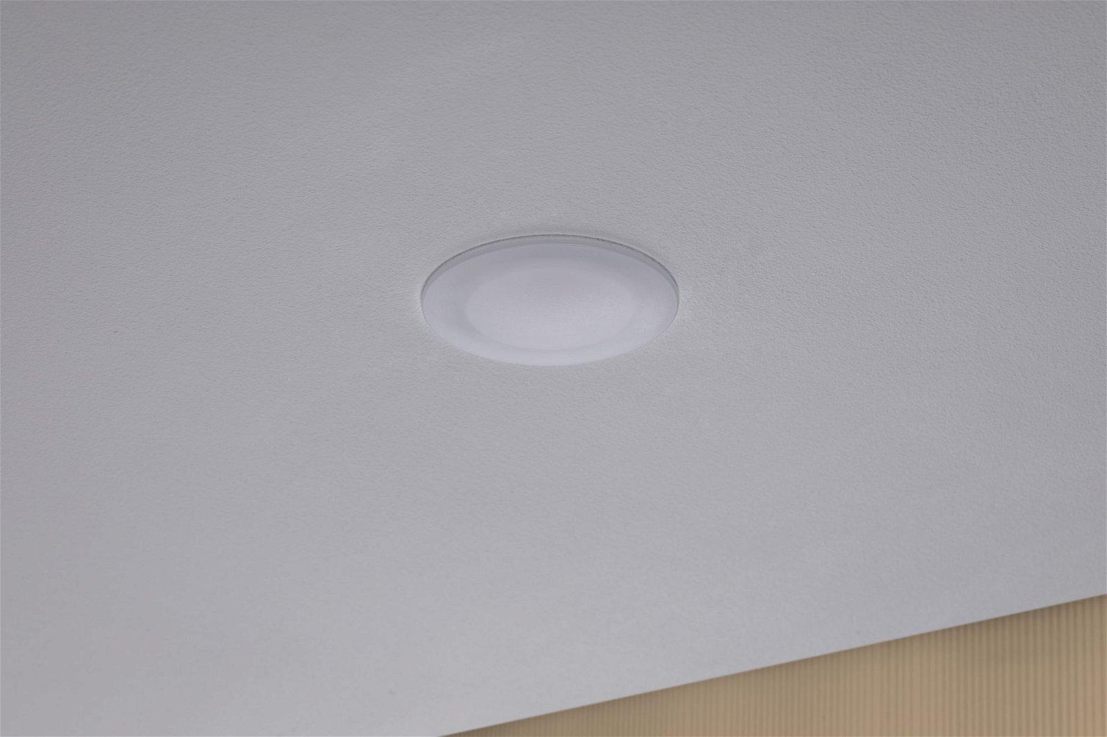 Premium LED Einbauleuchte Suon Basisset IP44 rund 90mm 3x6,5W 3x650lm 230V 2700K Satin/Weiß