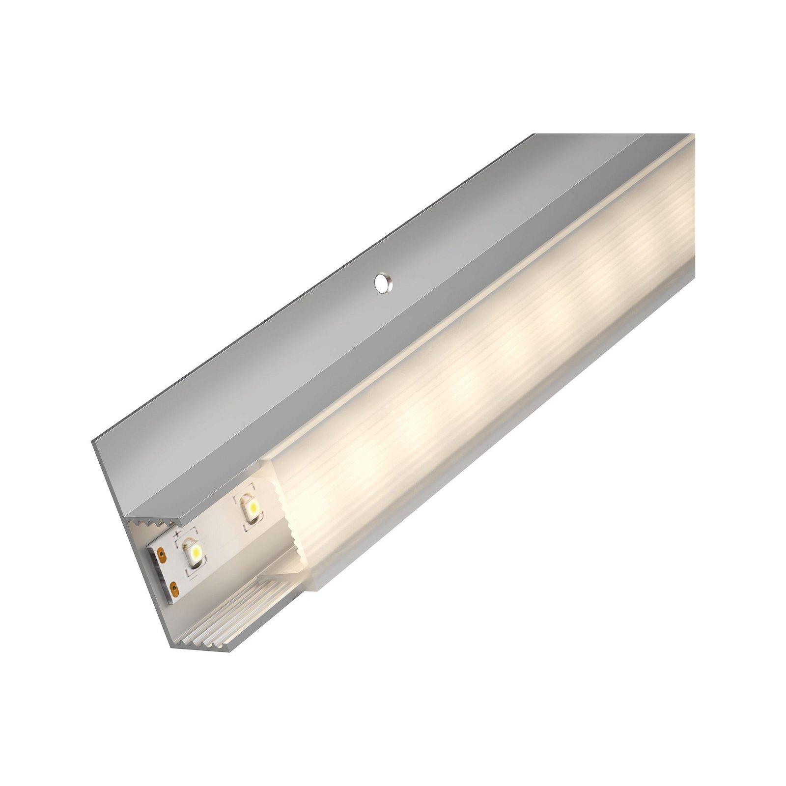 LED Strip Einbauprofil Socle Weißer Diffusor 1m Alu eloxiert/Satin