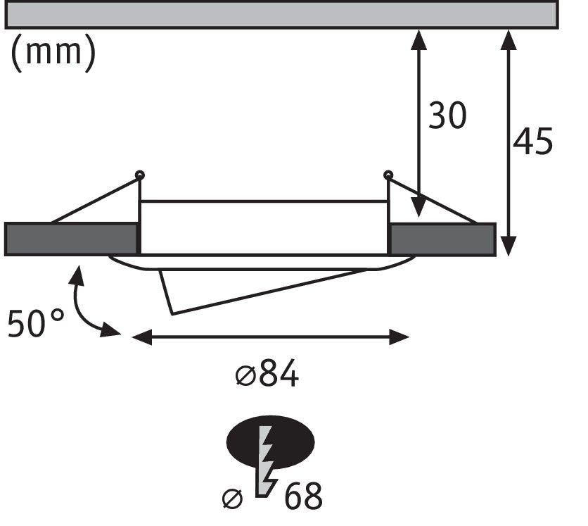 Einbauleuchte LED Coin Slim IP23 rund 6,8W Eisen 3er-Set schwenkbar