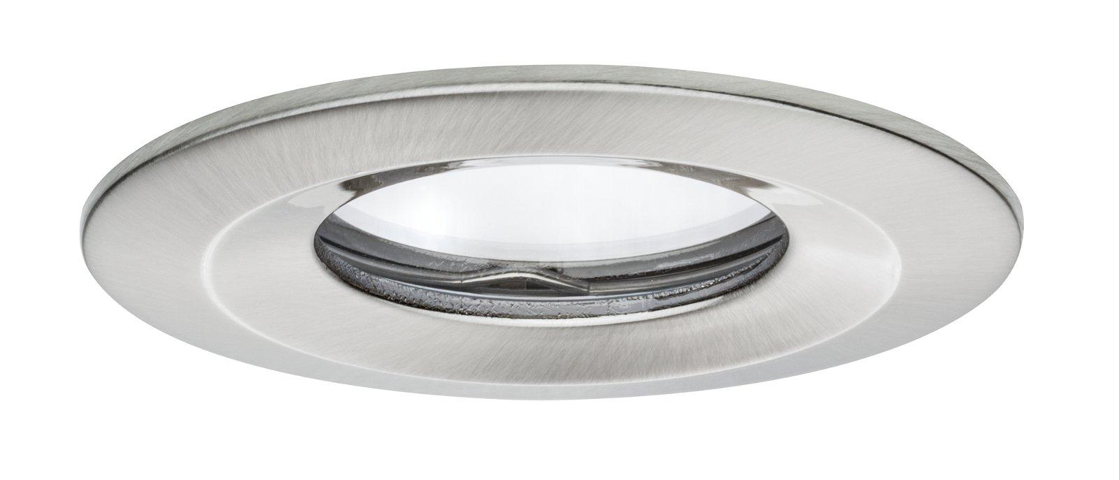 LED-inbouwlamp Nova Plus Coin star IP65 rond 78mm Coin 6,8W 425lm 230V 2700K Staal geborsteld