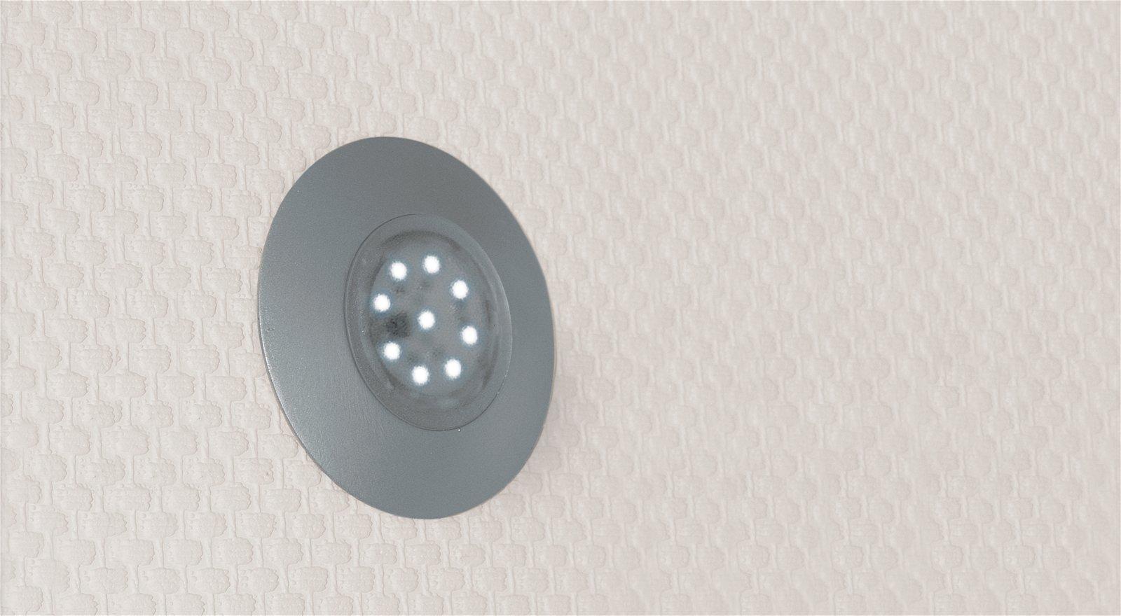 Opbouwring voor Special Line UpDownlight LED Chroom mat, Ø 80 mm