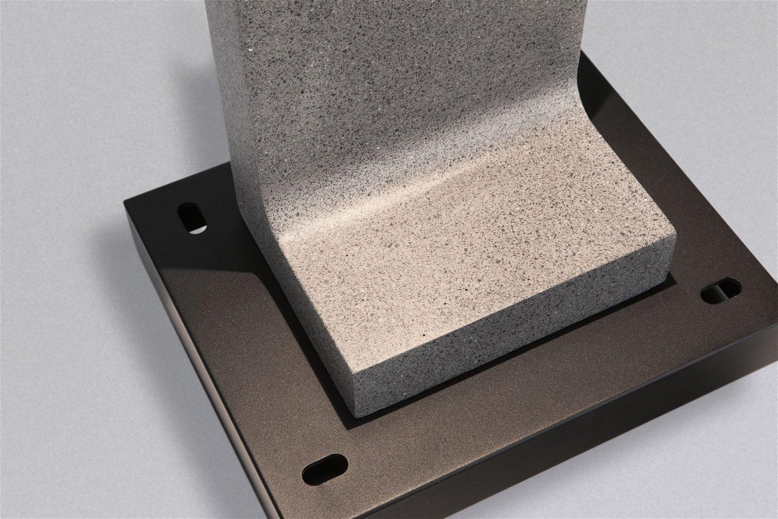 LED Pollerleuchte Concrea IP65 616mm 3000K 6,8W 630lm 230V Schwarzer Sandstein Beton