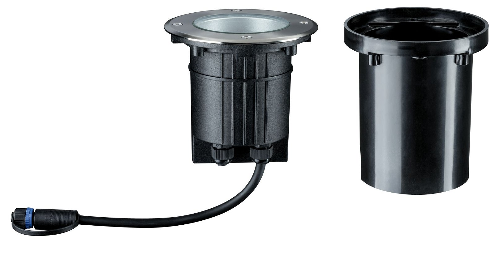 Plug & Shine LED-grondinbouwlamp Floor IP67 3000K 6W 20° Zilver