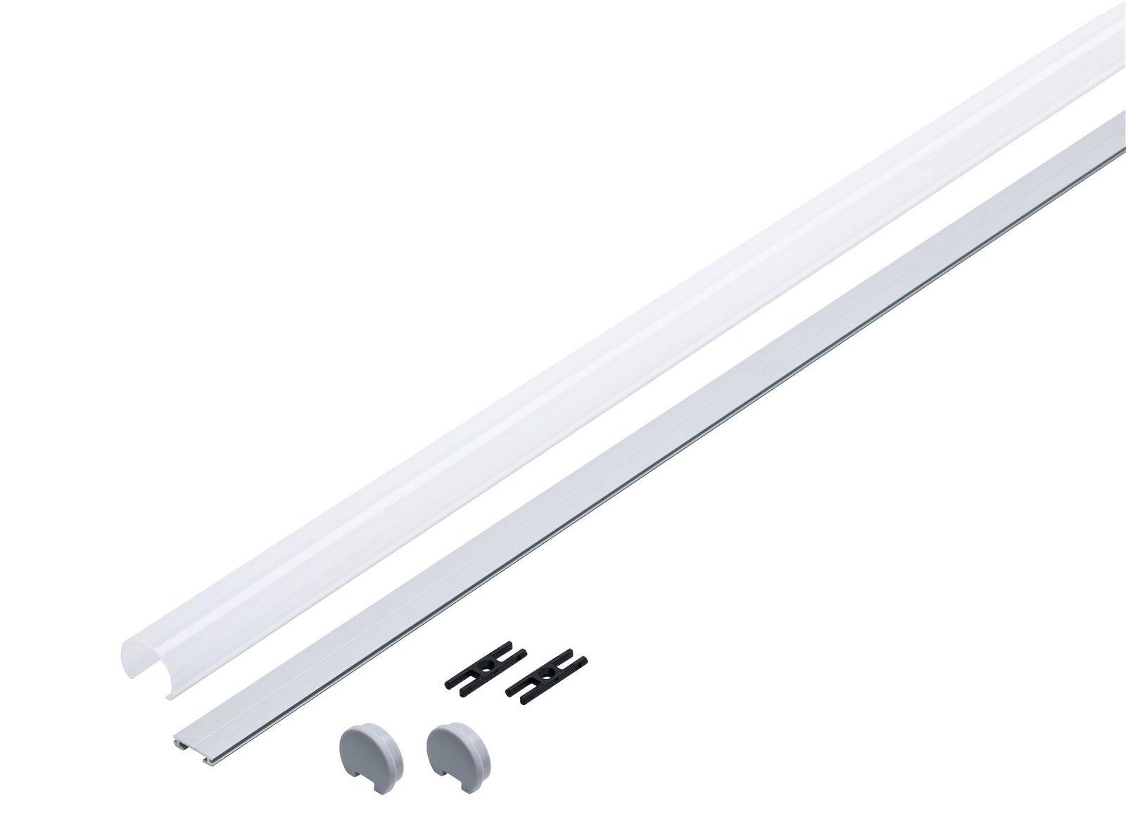 LED Strip profiel Tube 1m Alu geëloxeerd
