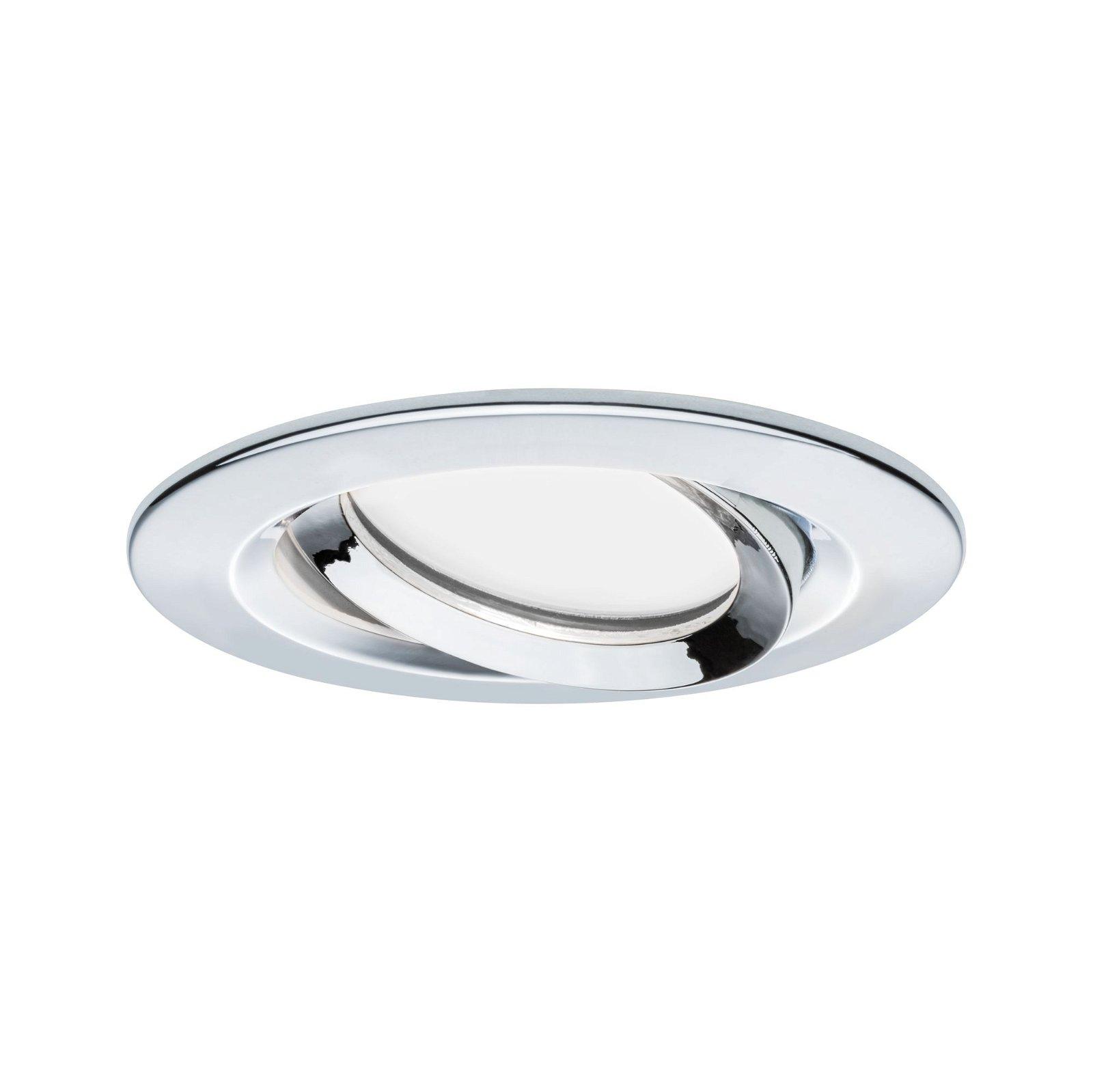 LED Recessed luminaire Nova Plus Swivelling IP65 round 93mm 30° Coin 6,8W 425lm 230V 2700K Chrome