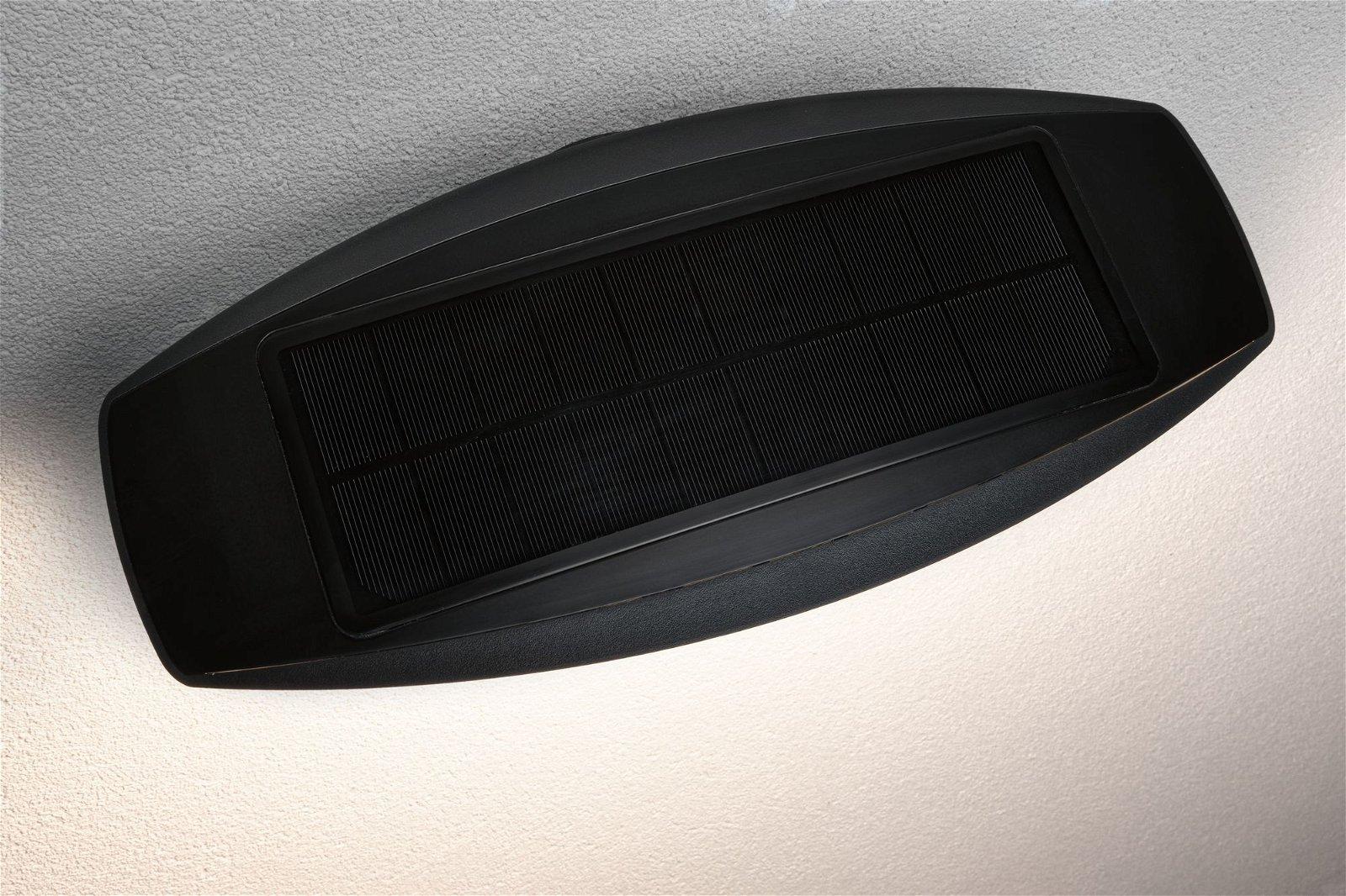 Solar LED Außenwandleuchte Kiran Bewegungsmelder IP44 3000K 600lm Anthrazit