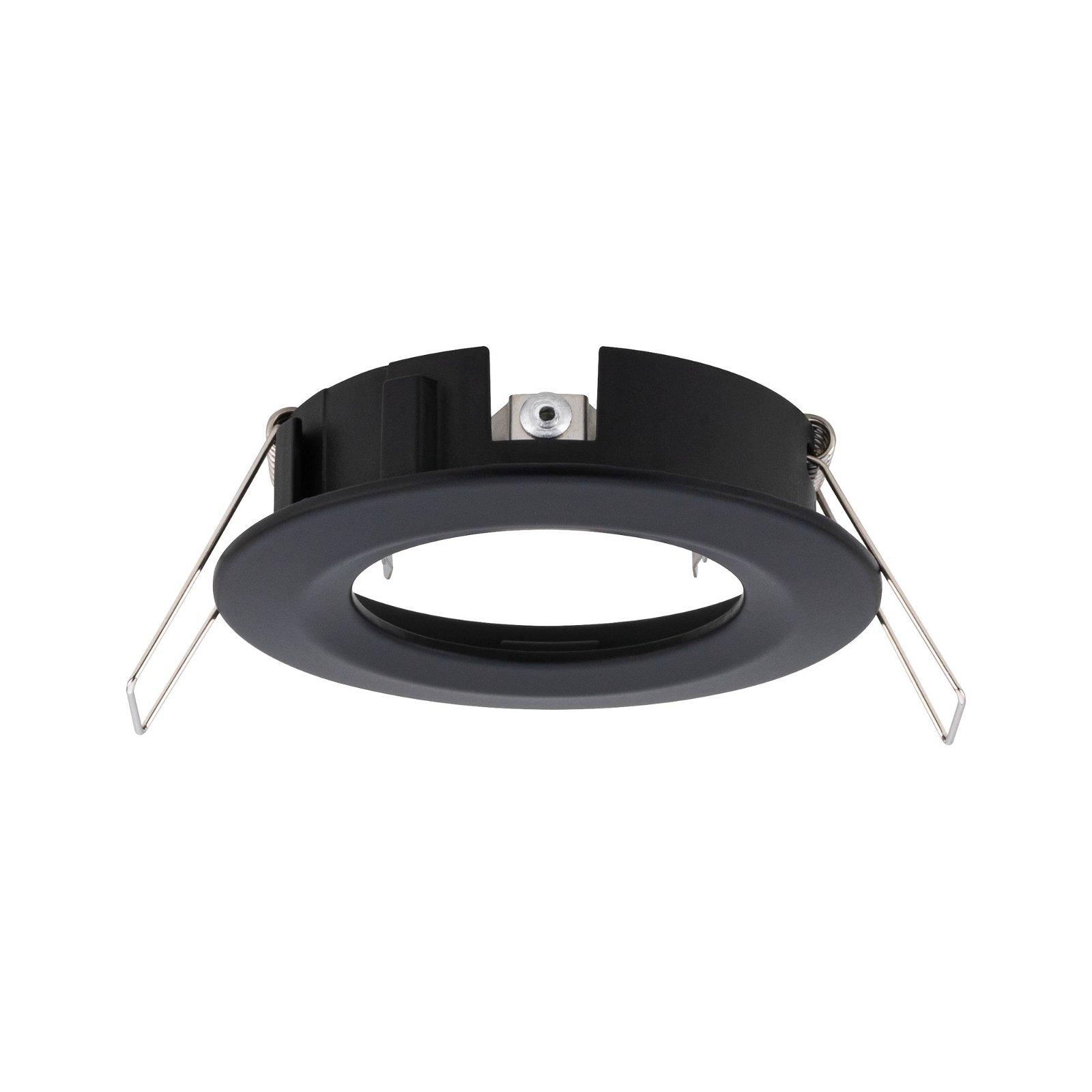 LED-inbouwlamp Choose Basisset star IP44 rond 78mm max. 3x10W Zwart mat