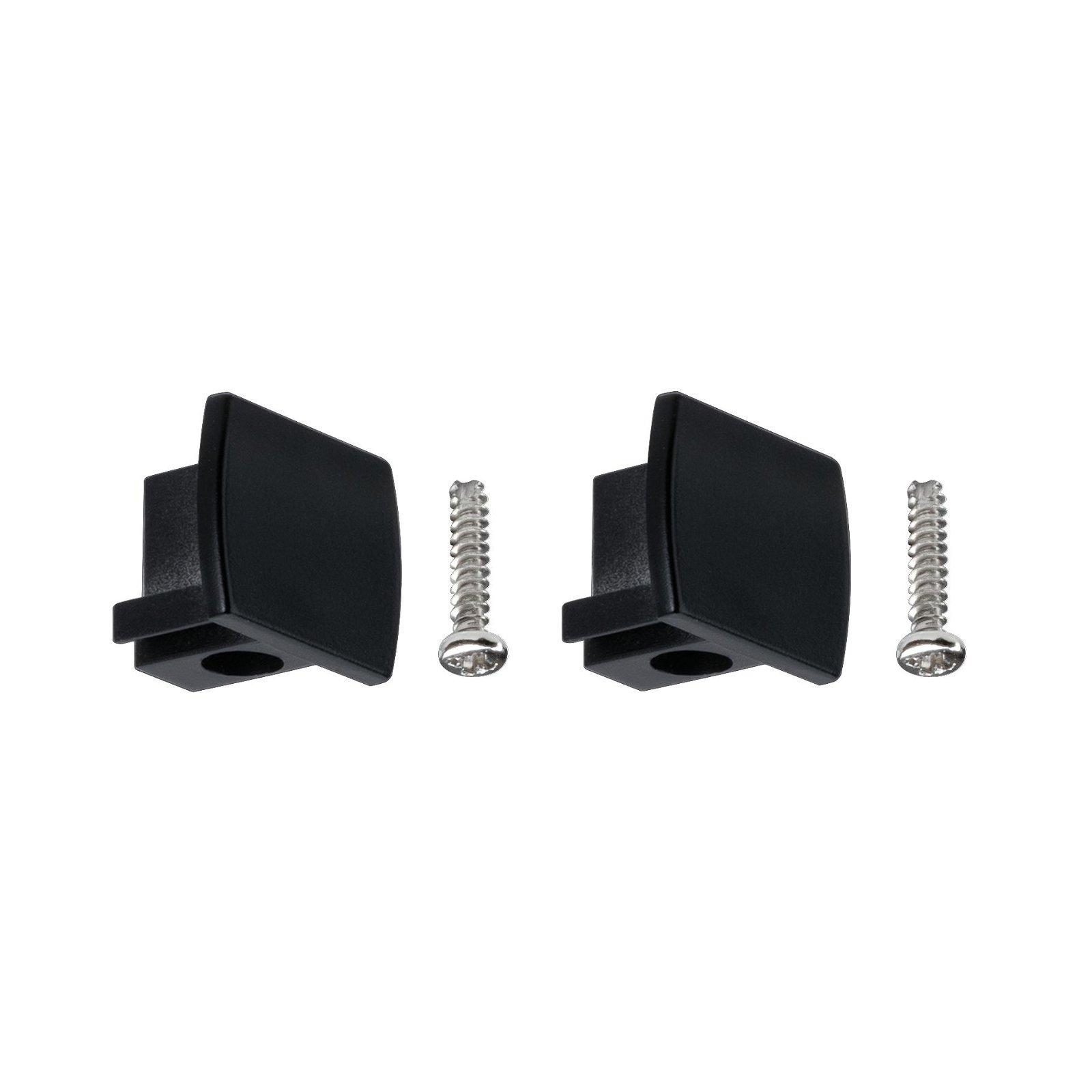 URail Verbindingen Set van 2 Eindkappen pak van 2 13x21mm Zwart