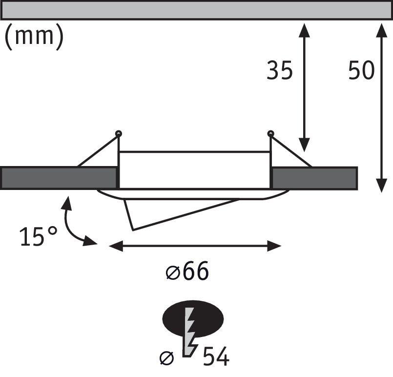 LED Einbauleuchte Nova Mini Coin Basisset schwenkbar rund 66mm 15° Coin 3x4W 3x310lm 230V 2700K Eisen gebürstet