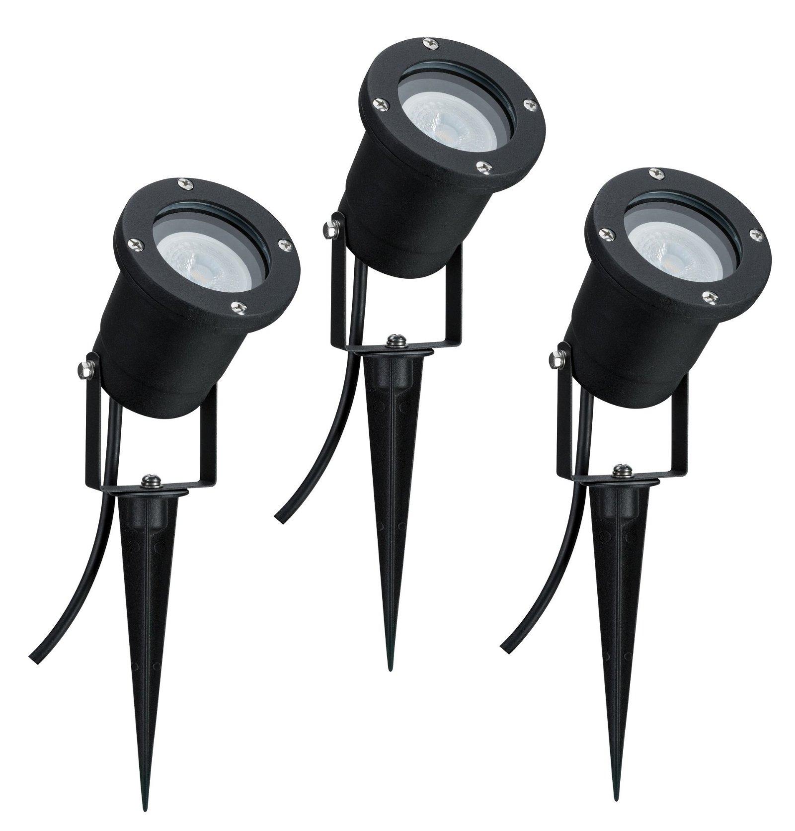 Special Line Projecteur de jardin IP65 rond 92mm 3x3,5W 230V Noir Alu